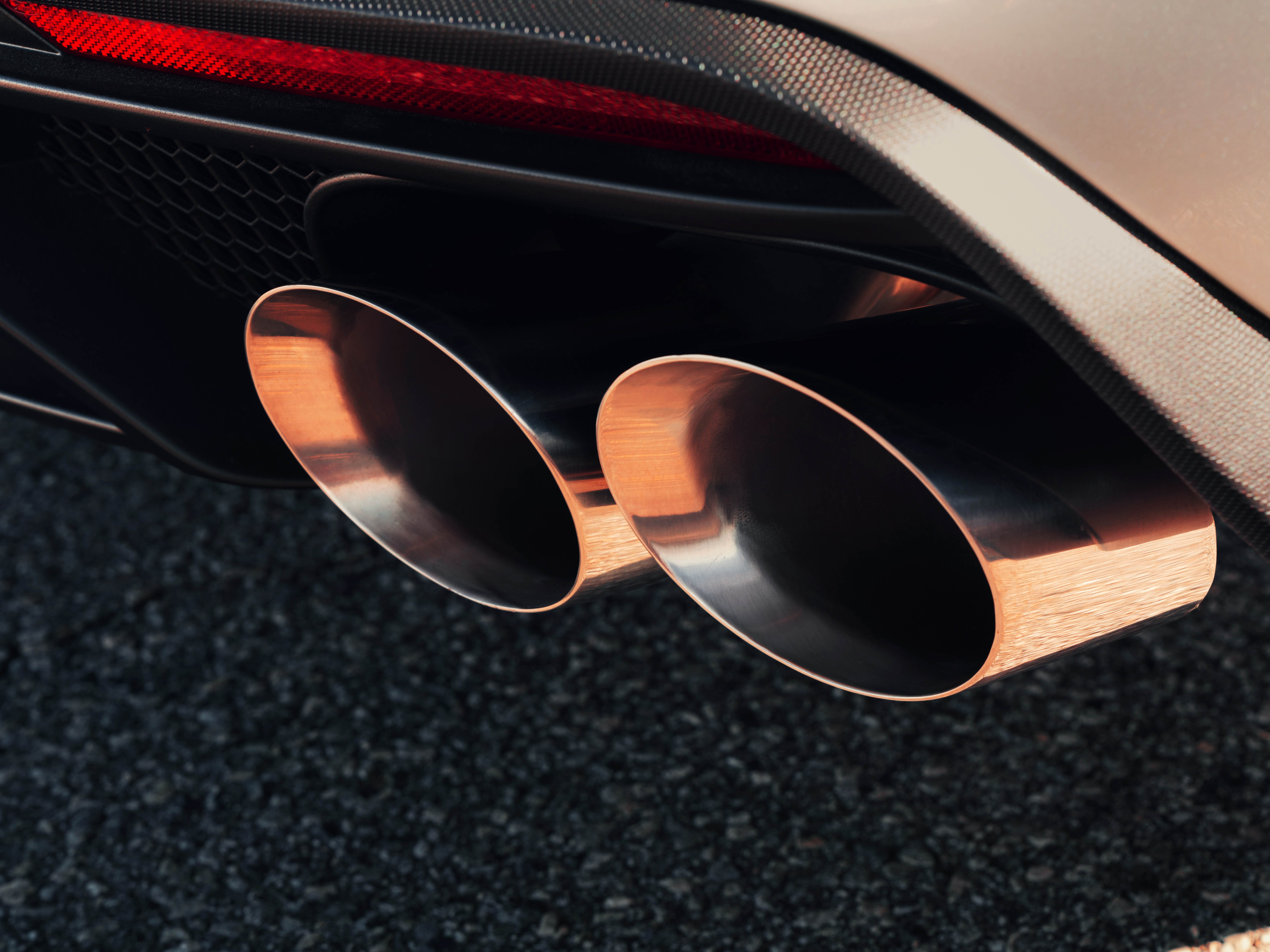 These are dual tail pipes on the Mustang GT500.