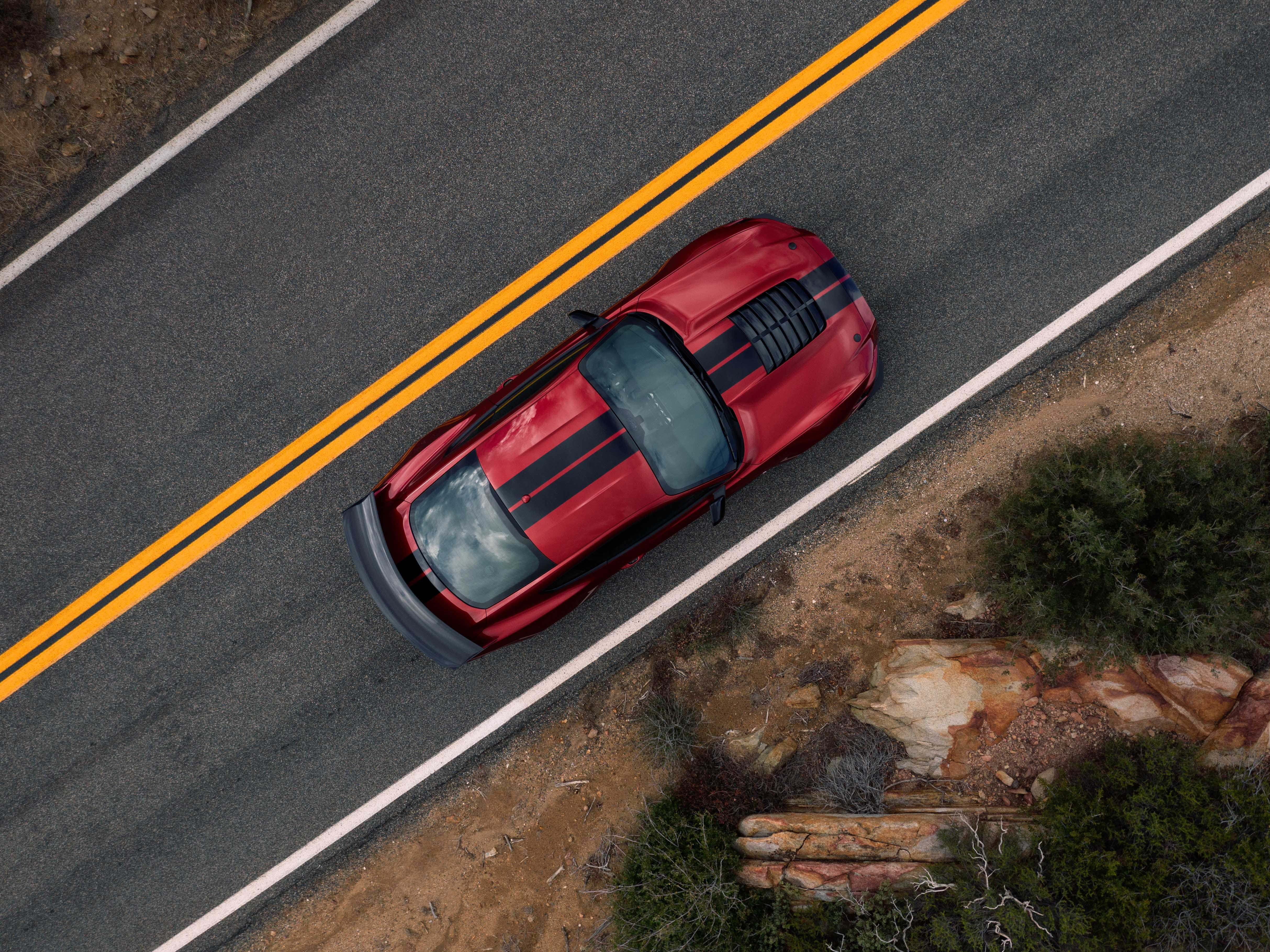 This  Mustang GT500, from above