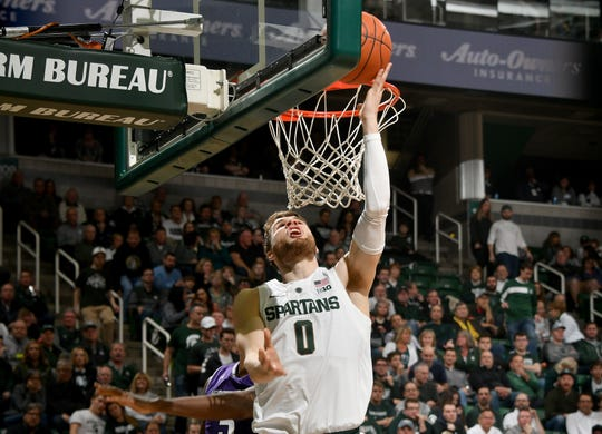 Michigan State's Kyle Ahrens will miss Sunday's game at Penn State with a back sprain.