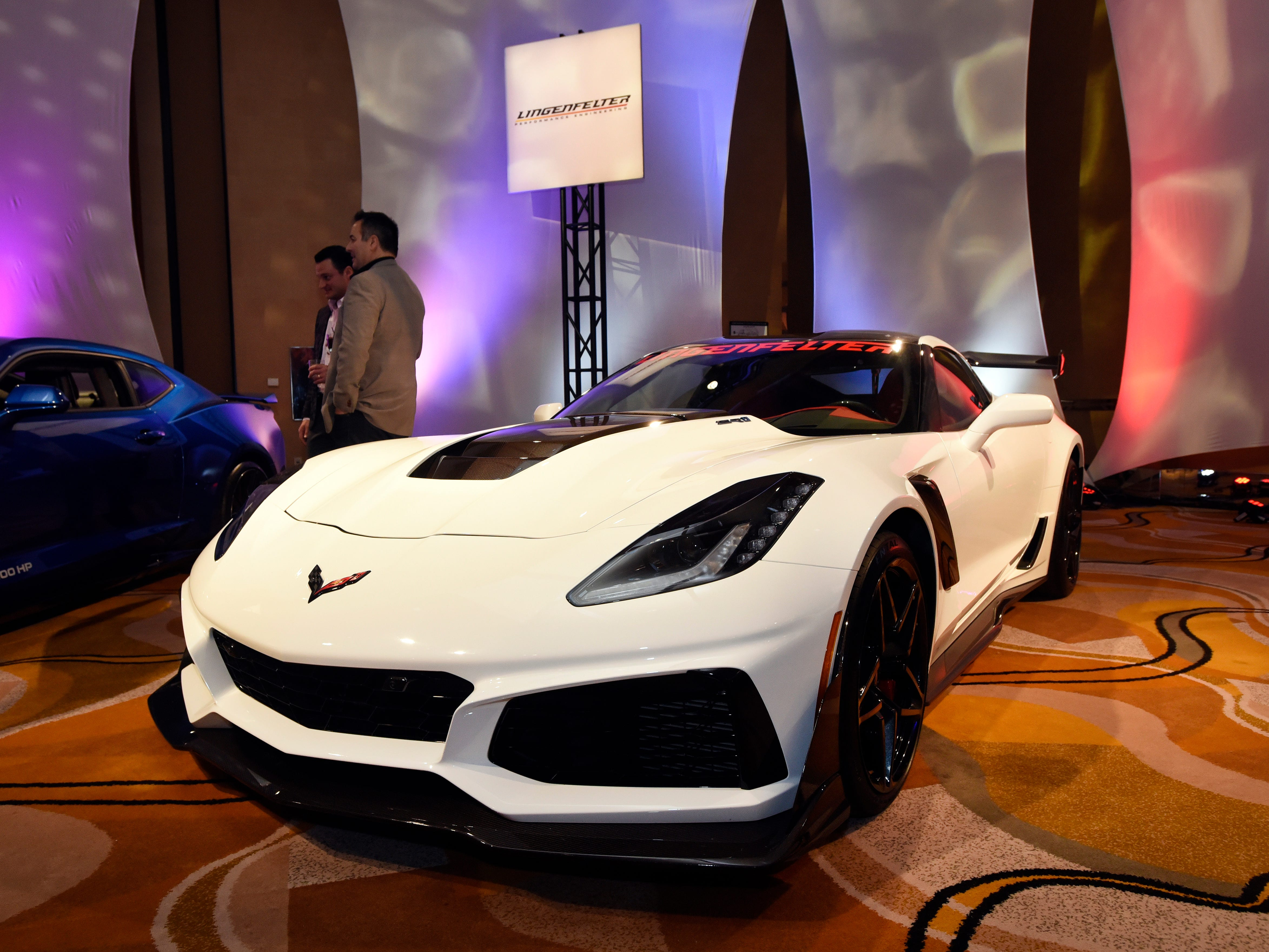 A Lingenfelter luxury vehicle is parked on floor of The Gallery.