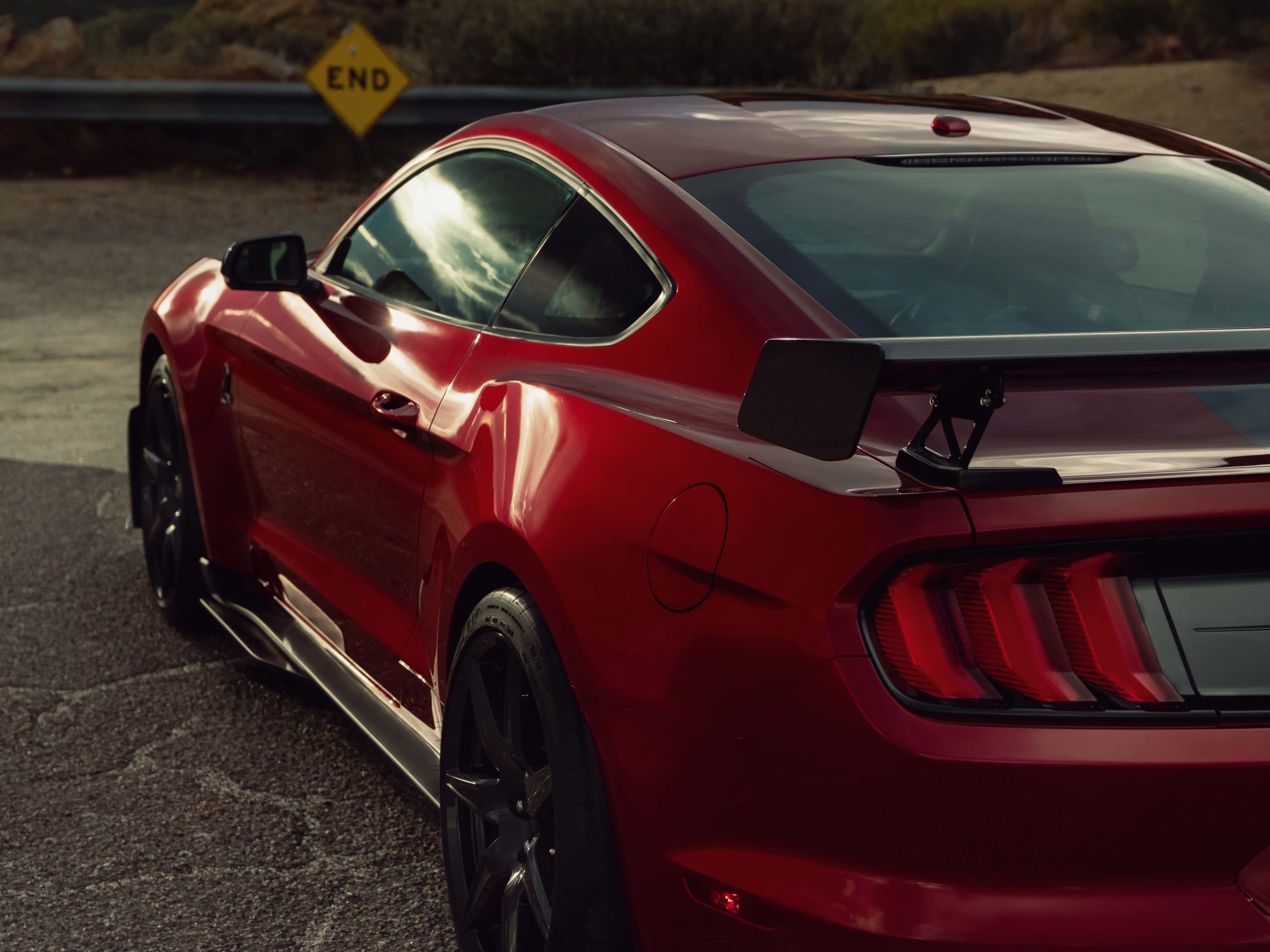 The rear of the new Mustang GT500
