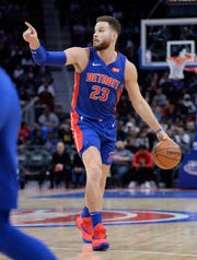 Pistons forward Blake Griffin is averaging 25.6 points, 8.3 rebounds and 5.3 assists and shooting 36 percent on 3-pointers.