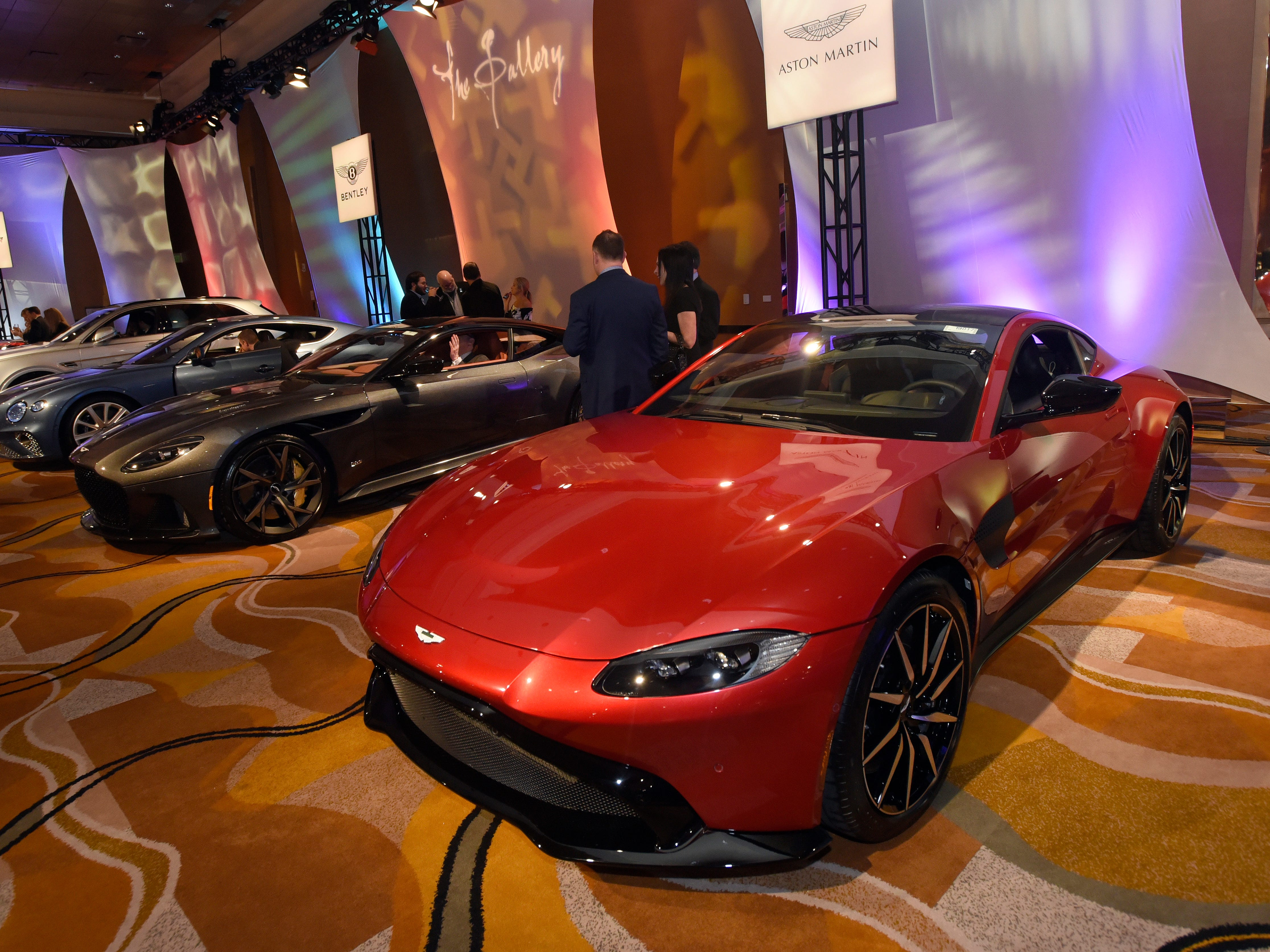 Two Aston Martin vehicles are on display at The Gallery.