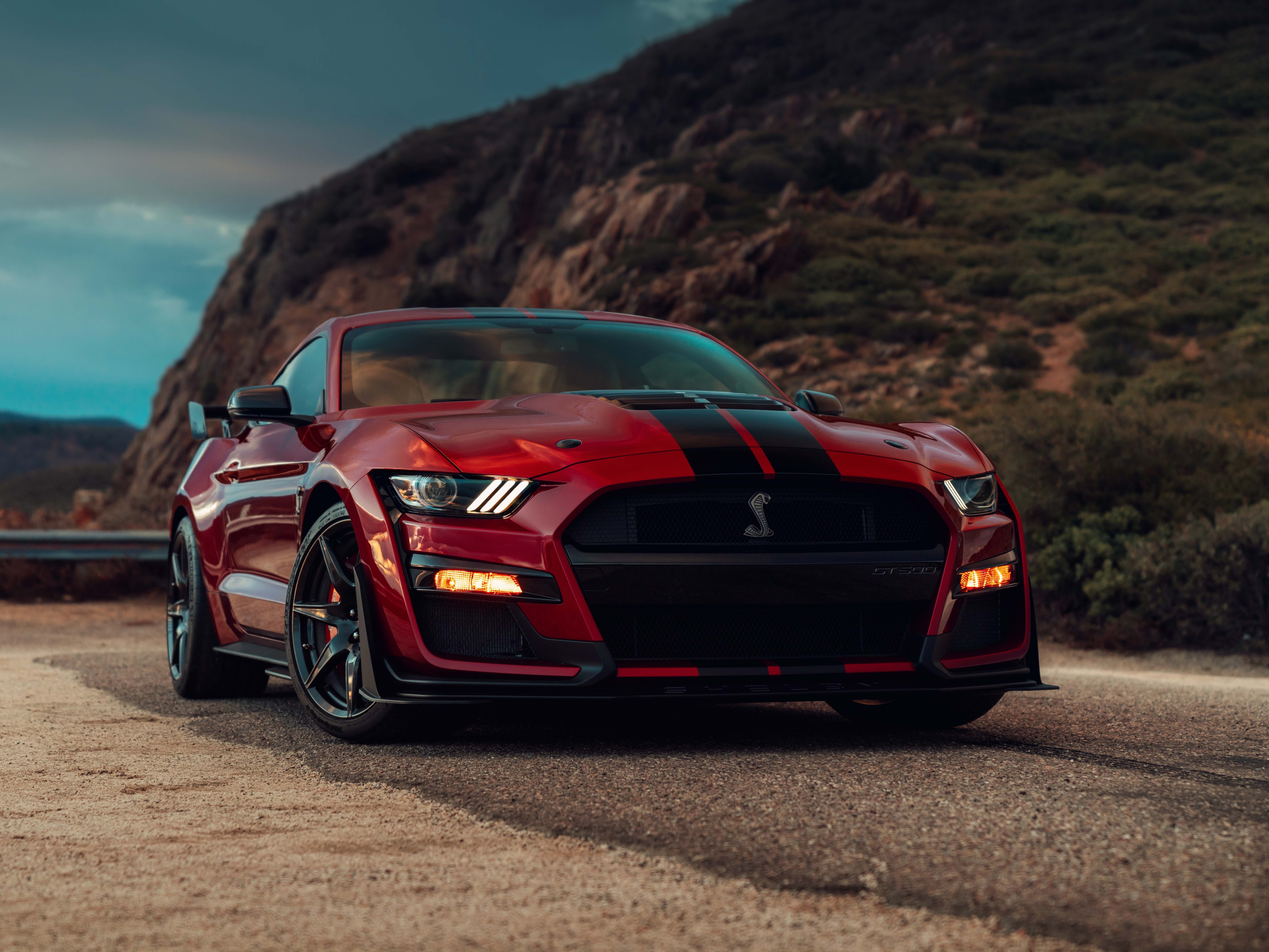 Ford unveils the most-powerful Mustang ever, the 700-plus horsepower Shelby GT500, at the Detroit auto show Mondaymorning, Jan. 14, 2019.