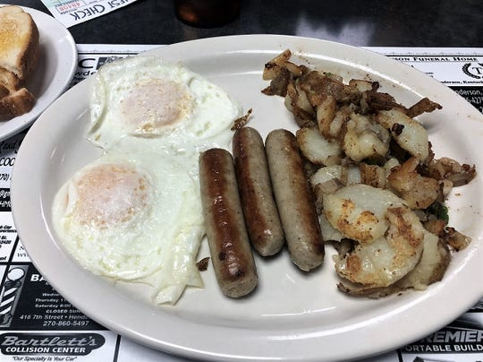 The Eastgate Family Restaurant is also known for hearty and reasonably-priced breakfast platters.