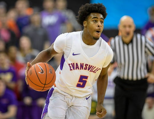 Evansville freshman guard Shamar Givance has been key in facilitating the Aces' transition offense.