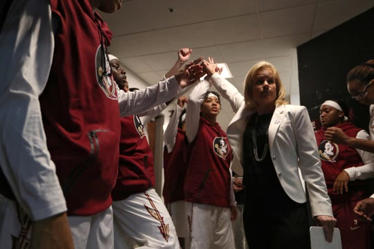 Florida State head coach Sue Semrau and the Seminoles women's basketball team hosted 59 alumni for its ACC home opener against Clemson.