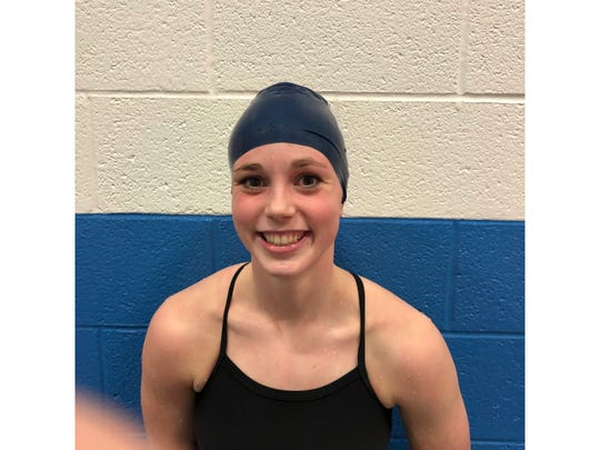 Great Falls High freshman swimmer Ava Pachek.