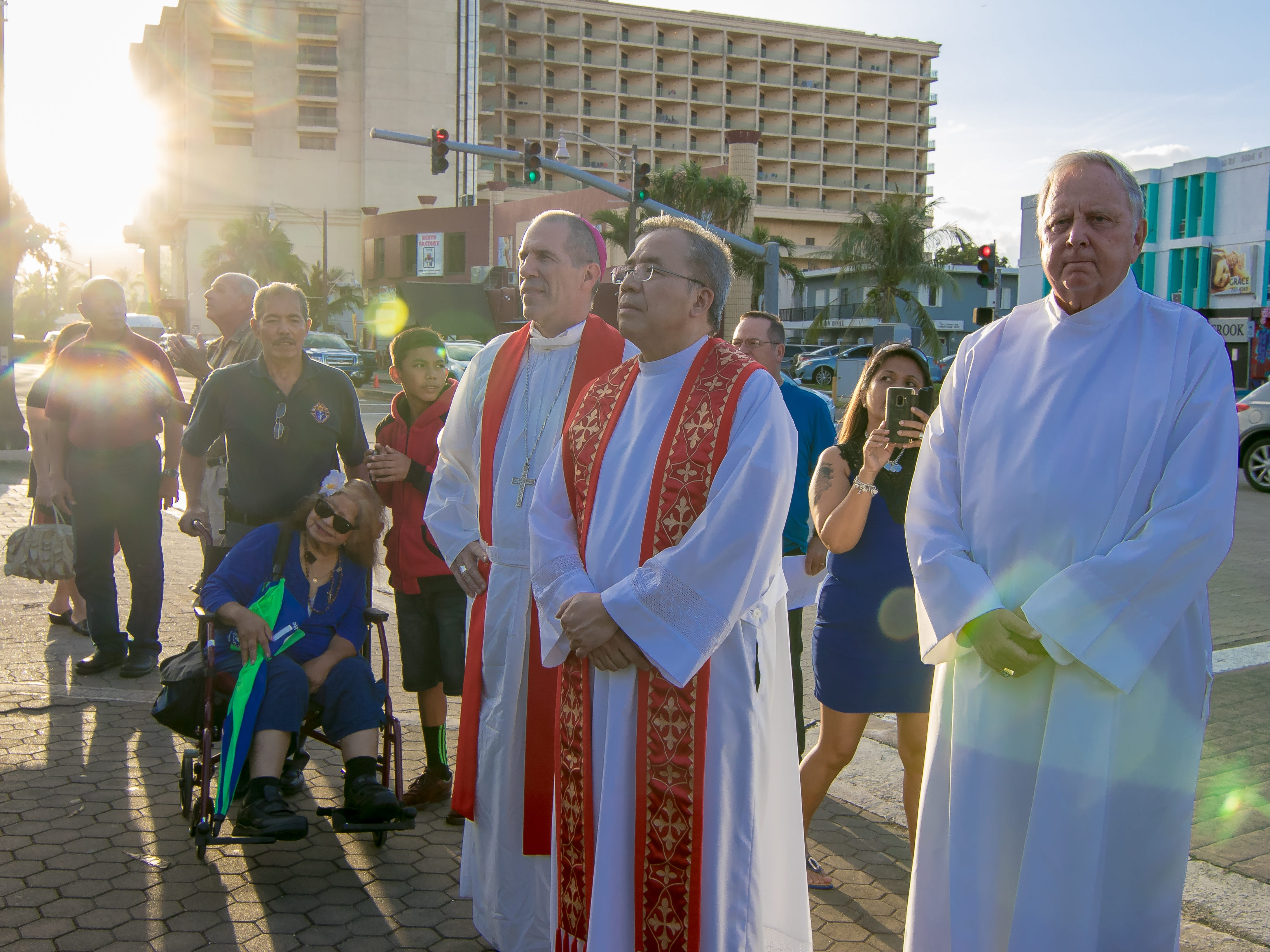 Archbishop Michael Byrnes, Father Jose Antonio Abad, and Deacon William Hagen presided the mass during the Celebration of Feast of Blessed Diego Luis de San Vitores at the parish in Tumon on Jan. 12.
