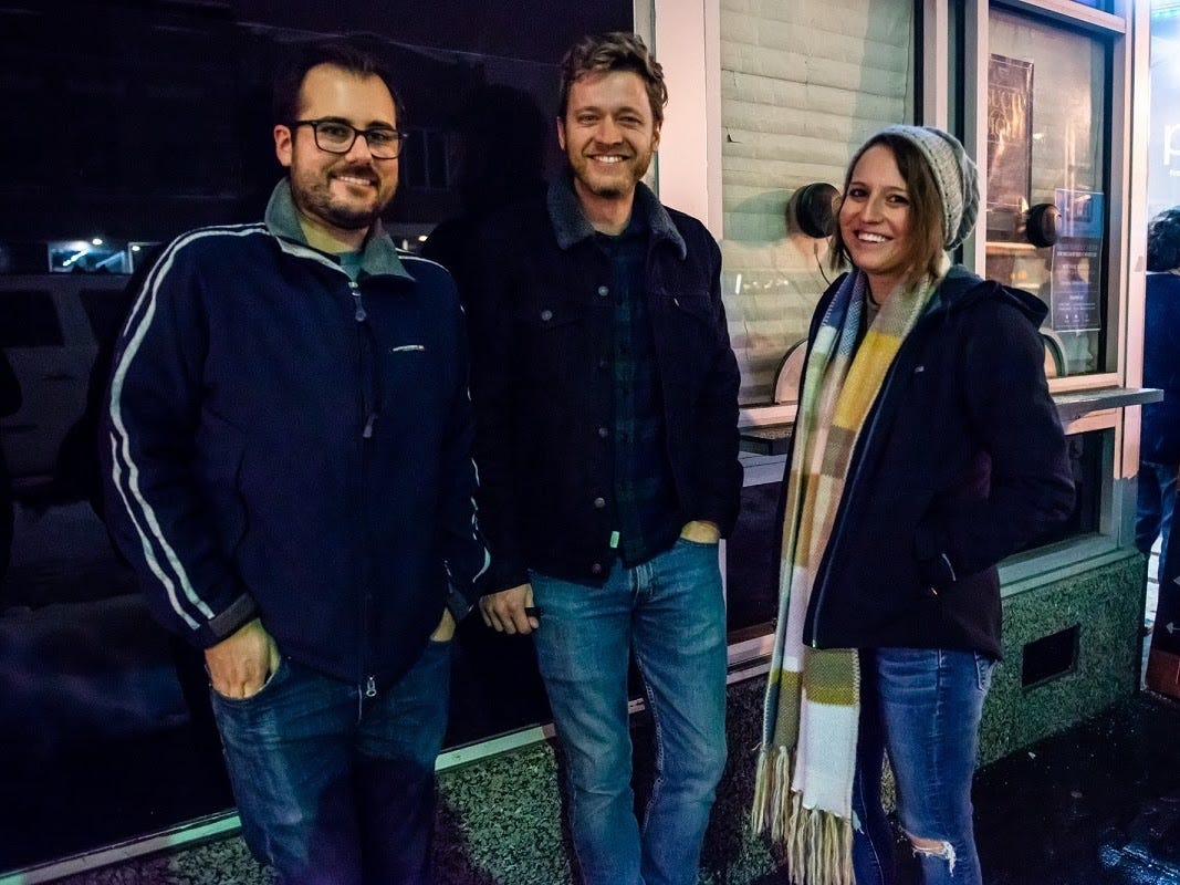 """Fans gather outside the Hi-Fi for Saturday's """"Such a Night: Recreating the music of the Band's Last Waltz"""" fundraiser for GiGi's Playhouse."""