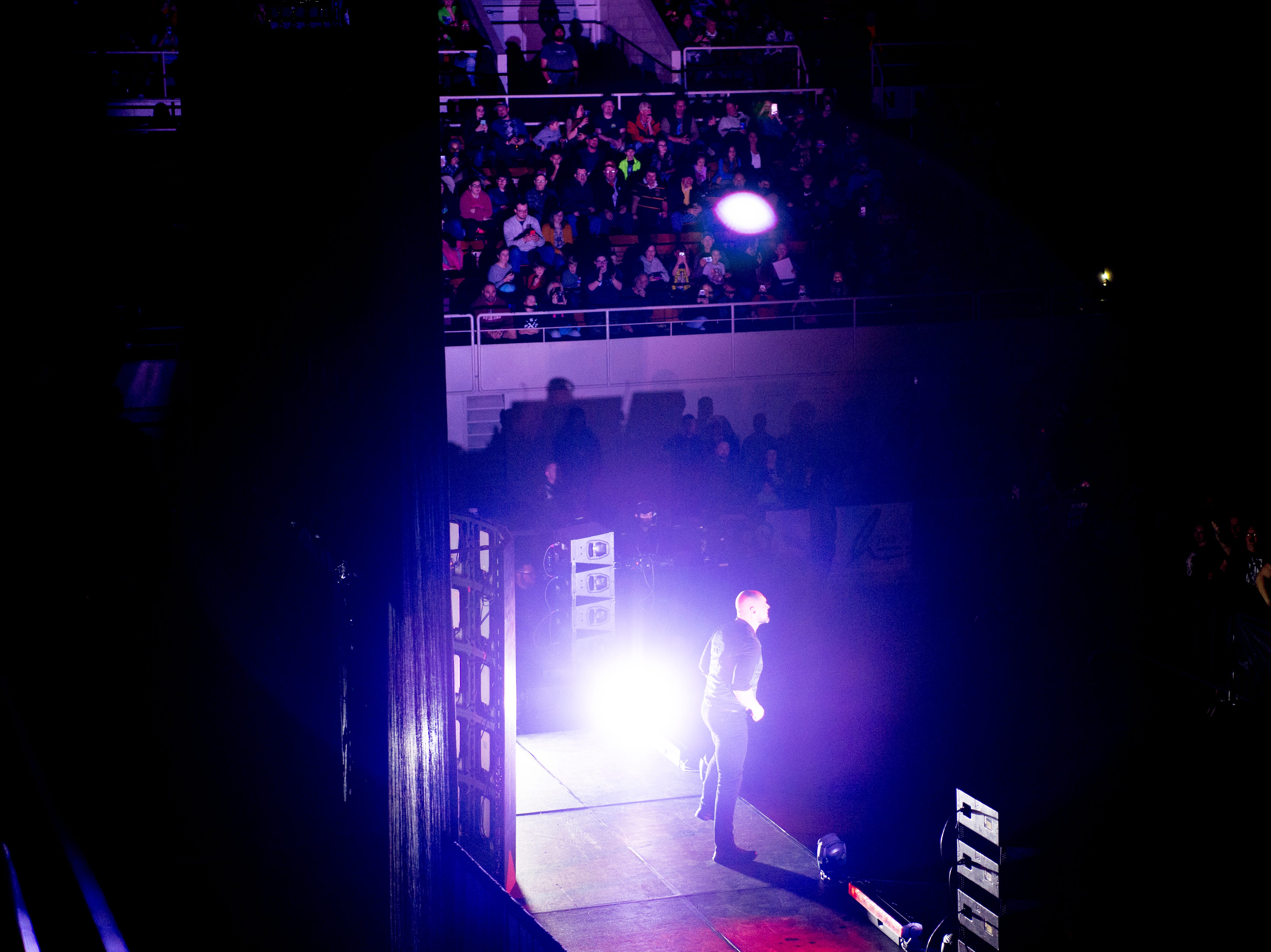 Baron Corbin enters the arena to wrestle John Cena during a WWE Live performance at the Knoxville Civic Coliseum in Knoxville, Tennessee on Saturday, January 12, 2019. *KNOXVILLE NEWS SENTINEL USE ONLY*