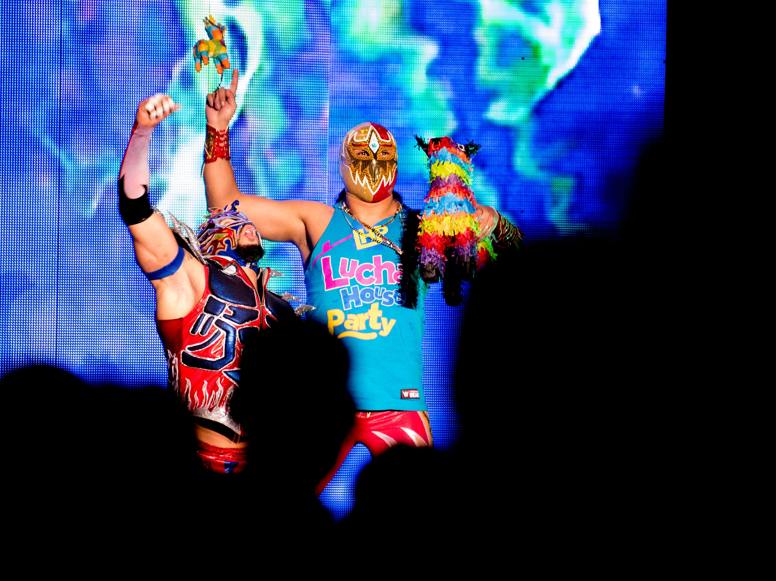 Lucha House Party wrestles The Revival during a WWE Live performance at the Knoxville Civic Coliseum in Knoxville, Tennessee on Saturday, January 12, 2019. *KNOXVILLE NEWS SENTINEL USE ONLY*