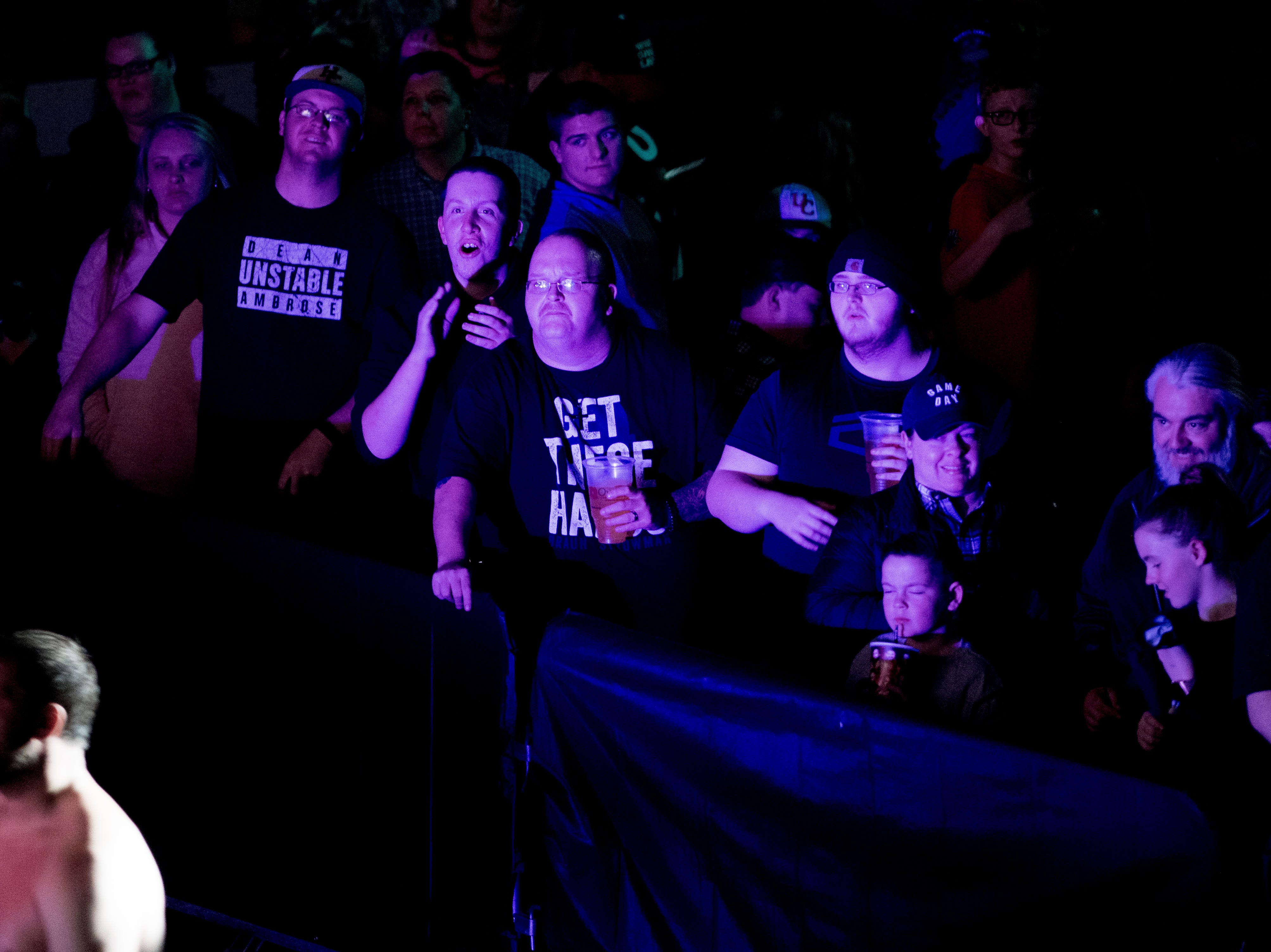 Fans watch from their seats during a WWE Live performance at the Knoxville Civic Coliseum in Knoxville, Tennessee on Saturday, January 12, 2019. *KNOXVILLE NEWS SENTINEL USE ONLY*