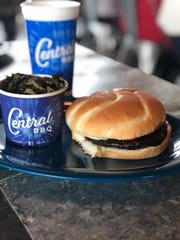 """The Grilled Portabella Sandwich at Central BBQ. It's a great """"meatless"""" option when going out for barbecue with friends."""