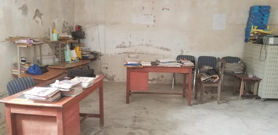 The library at Winneba Methodist School in Ghana has almost no books. The United Methodist Church of Whitefish Bay has donated more than 2,000 books and $6,000 to furnish and stock the library.