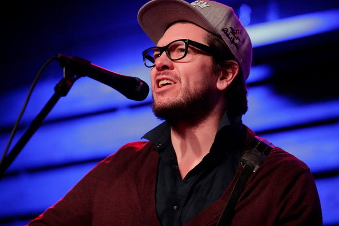 """Christopher Porterfield of Field Report performs during the Journal Sentinel's """"Bands to Watch: Best of 2018"""" concert Saturday at the Radio Milwaukee studios."""
