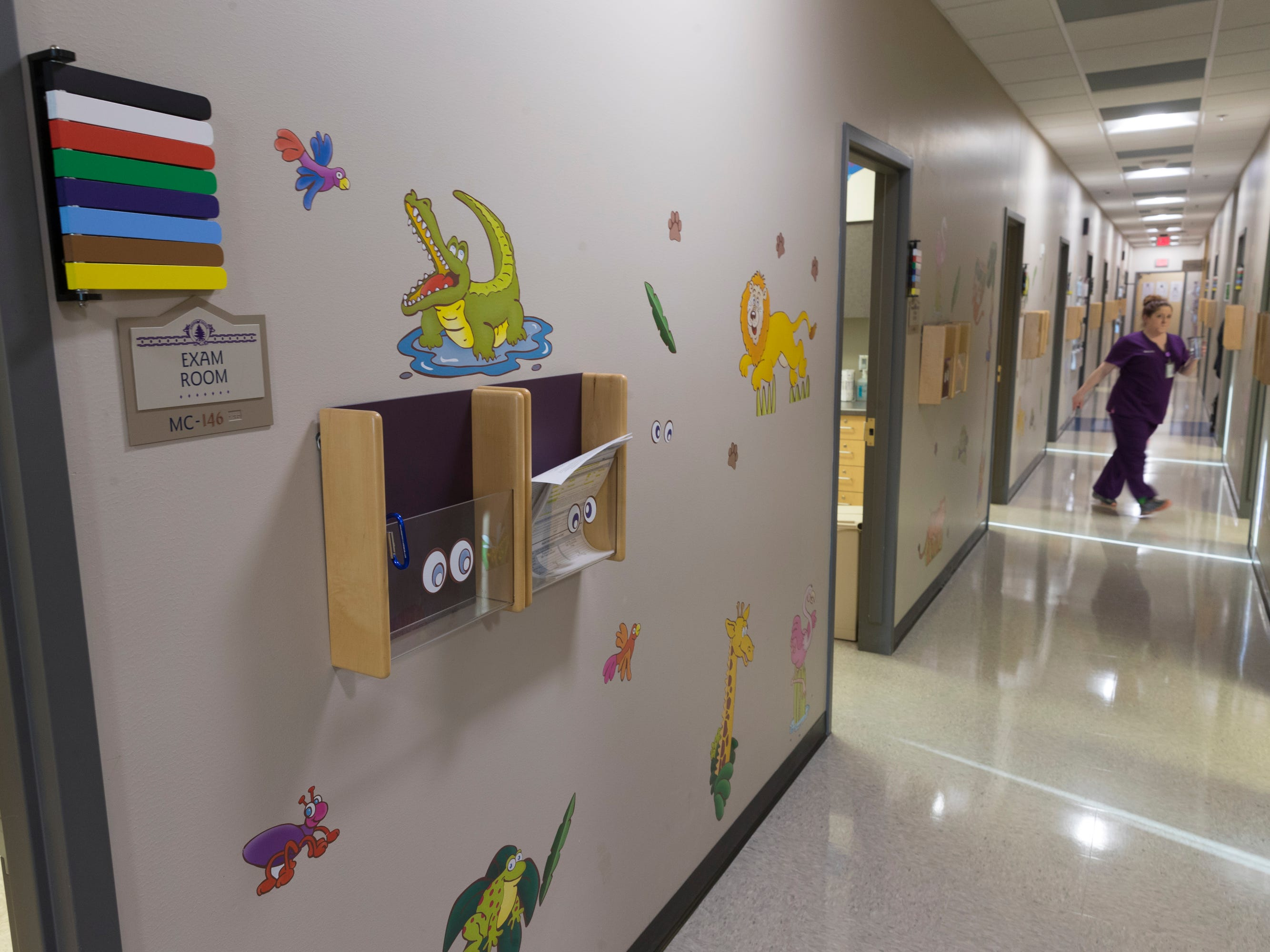 Pediatric exam rooms are shown in the Community Health Services clinic on the Oneida Indian Reservation.