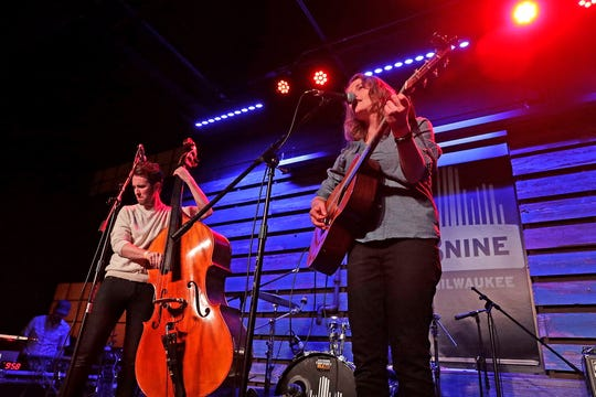 "Dead Horses performs during the Journal Sentinel's ""Bands to Watch: Best of 2018"" concert Saturday at the Radio Milwaukee studios. The Americana duo played new songs and material from its latest album ""My Mother The Moon."""