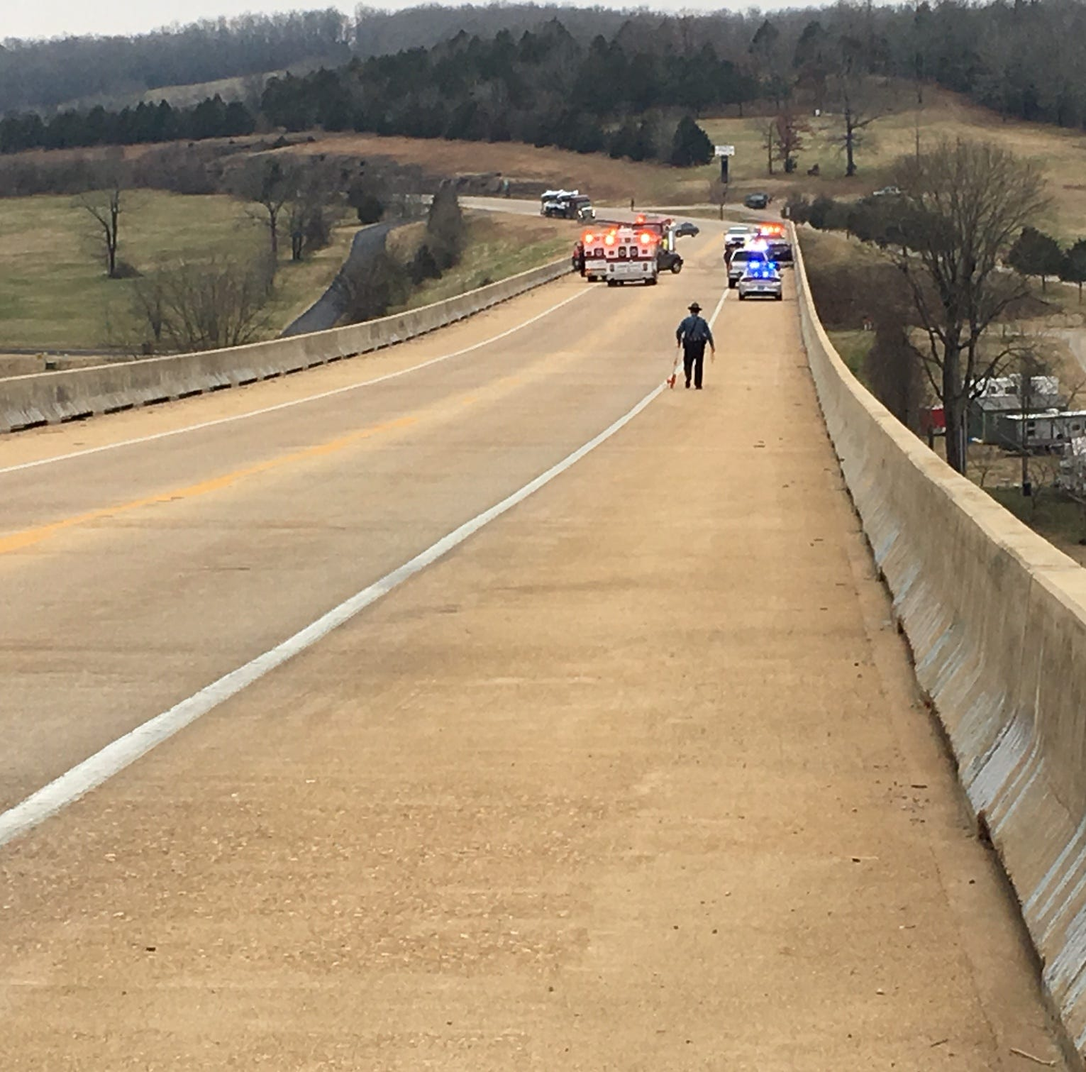 Multi-vehicle crash occurs on new Cotter bridge