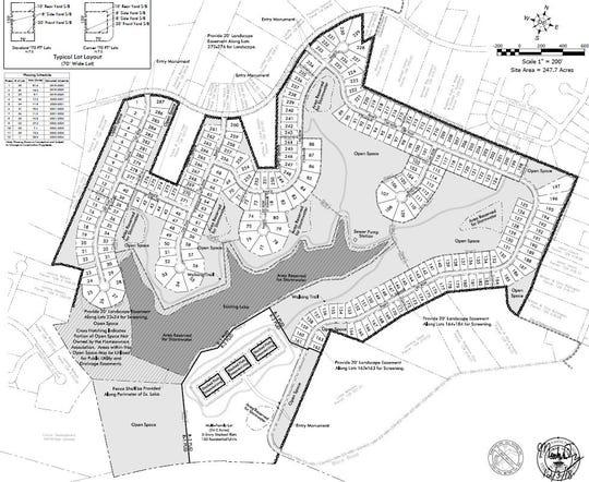 Woodland Hills development preliminary master plan.