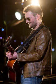 Eric Church performs during the Willie: Life & Songs of an American Outlaw concert at Bridgestone Arena in Nashville, Tenn., Saturday, Jan. 12, 2019.