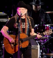 Willie Nelson performs during the Willie: Life & Songs of an American Outlaw concert at Bridgestone Arena in Nashville, Tenn., Saturday, Jan. 12, 2019.