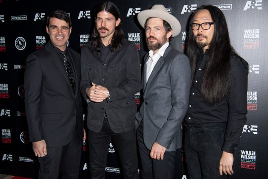 The Avett Brothers on the red carpet before the Willie: Life & Songs of an American Outlaw concert at Bridgestone Arena in Nashville, Tenn., Saturday, Jan. 12, 2019.