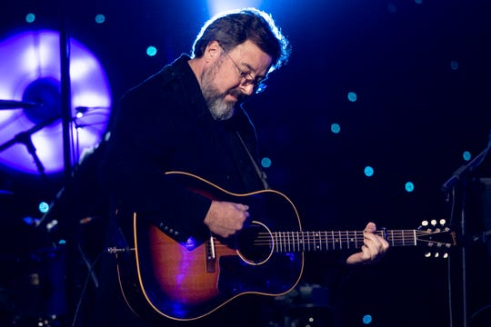 "Vince Gill performs during the ""Willie: Life & Songs of an American Outlaw"" concert Jan. 12, 2019, at Bridgestone Arena in Nashville."