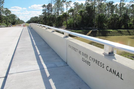 The Eighth Street Northeast bridge over the Cypress Canal in Golden Gate Estates is expected to open by late February 2019.