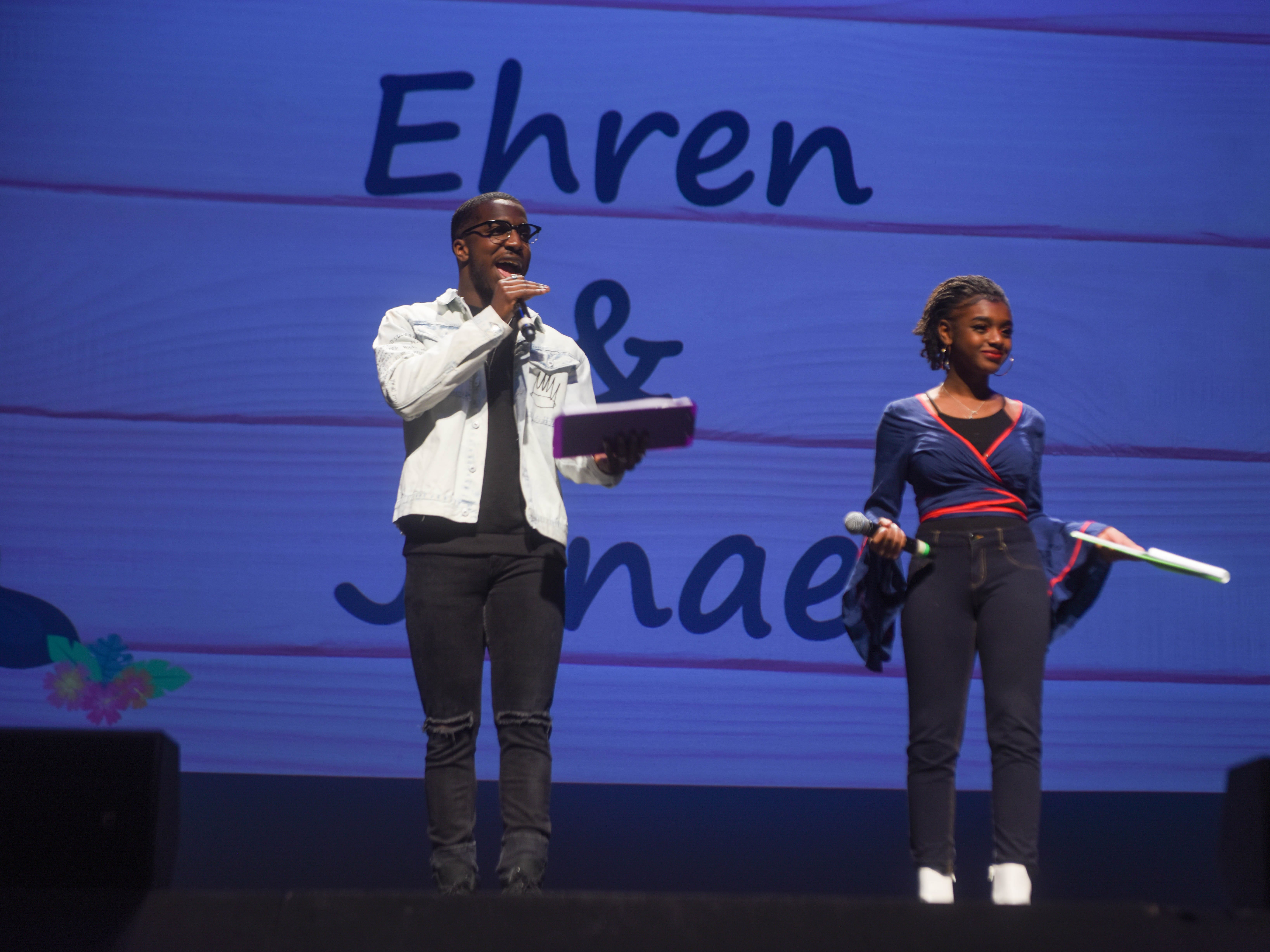 Event M.C.'s - Ehren Layne and Janae Wilson. The 2019 Englewood Idol was held at bergenPAC theater. The singing competition is open to any high school student who currently lives or goes to school in Englewood, NJ. This years winner was Genesis Capellan. 01/11/2019