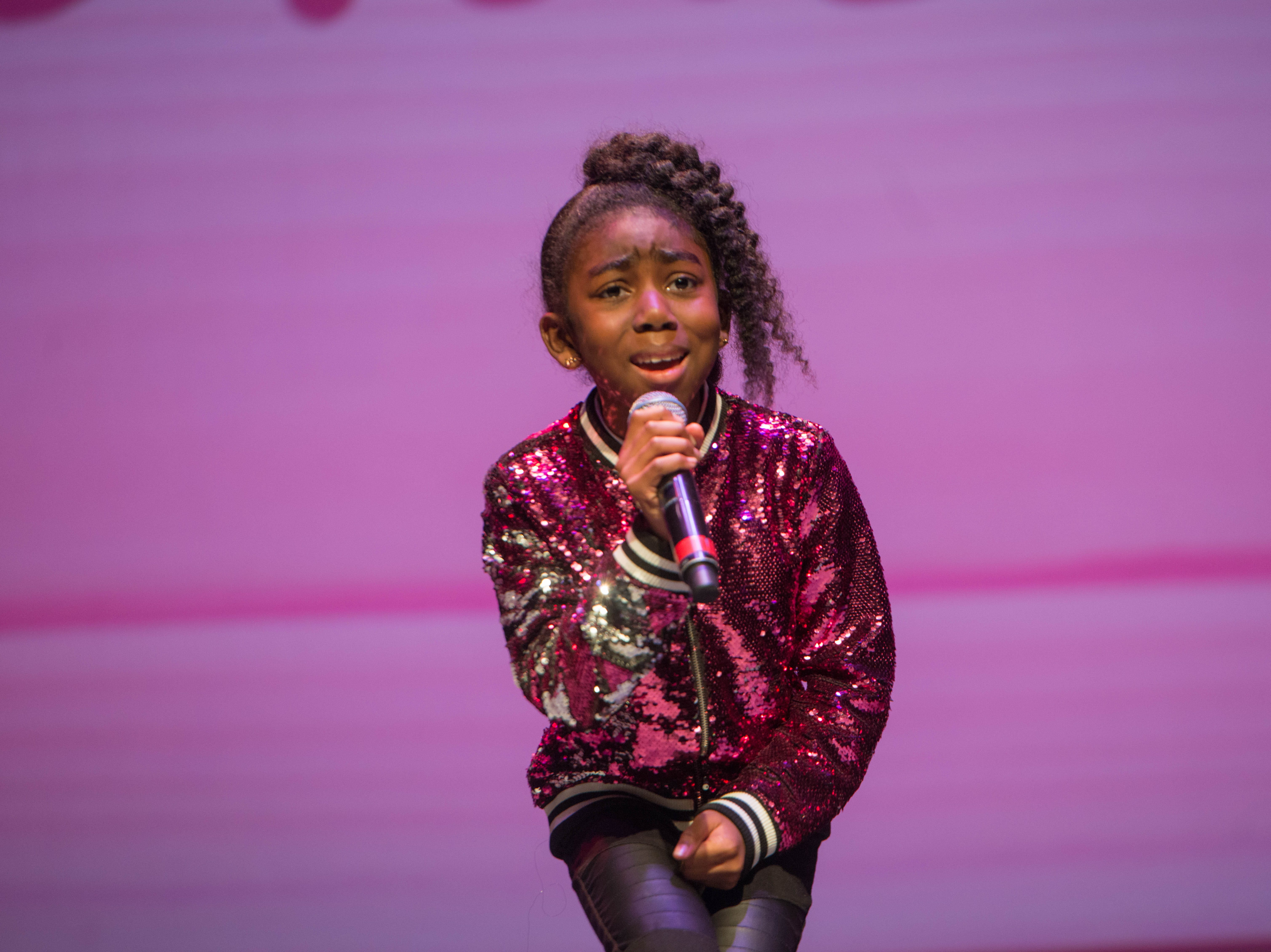"2nd grade ""Micro"" Idol: Temple Goldson. The 2019 Englewood Idol was held at bergenPAC theater. The singing competition is open to any high school student who currently lives or goes to school in Englewood, NJ. This years winner was Genesis Capellan. 01/11/2019"