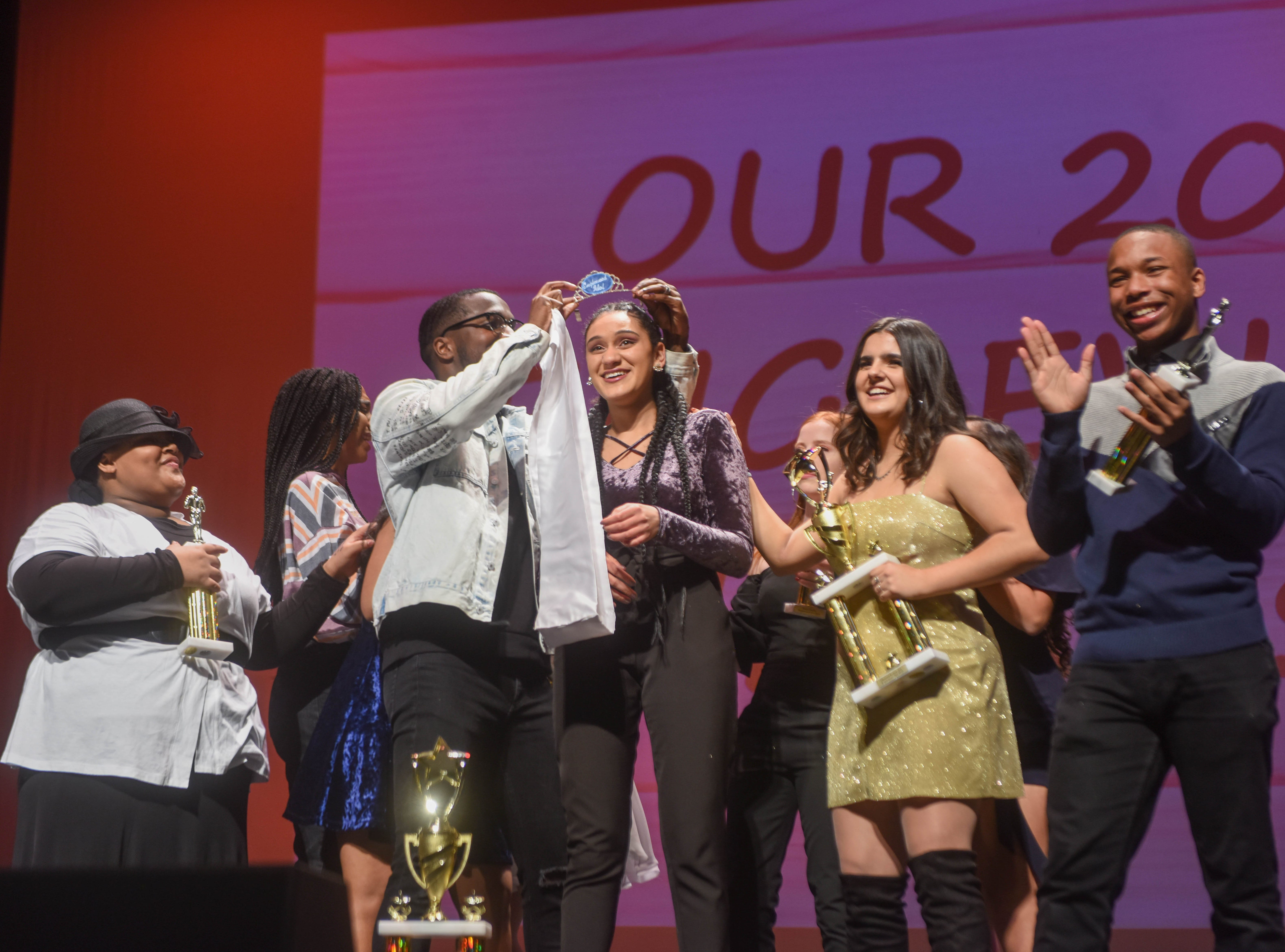 Genesis Capellan (2019 Englewood Idol Winner) is crowned. The 2019 Englewood Idol was held at bergenPAC theater. The singing competition is open to any high school student who currently lives or goes to school in Englewood, NJ. This years winner was Genesis Capellan. 01/11/2019