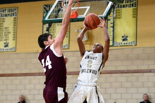 Jayden Lemond (right) and Dwight-Englewood are in the 63rd Bergen County Jamboree boys basketball tournament, while Nebi Ademi and Wayne Hills are competing in the 49th Passaic County Tournament.