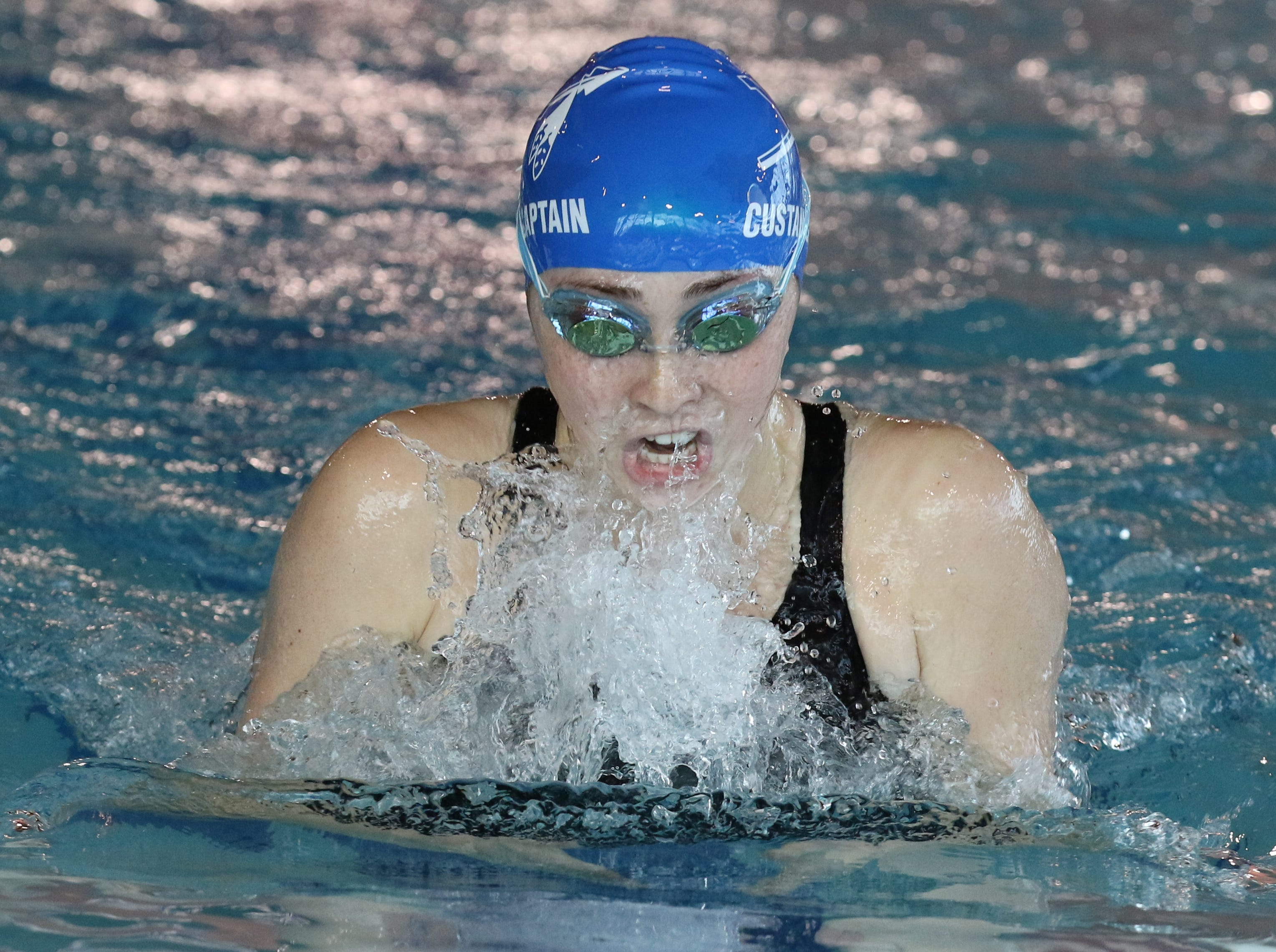 Claire Custance of Wayne Valley won the 100 Yard Breaststroke.