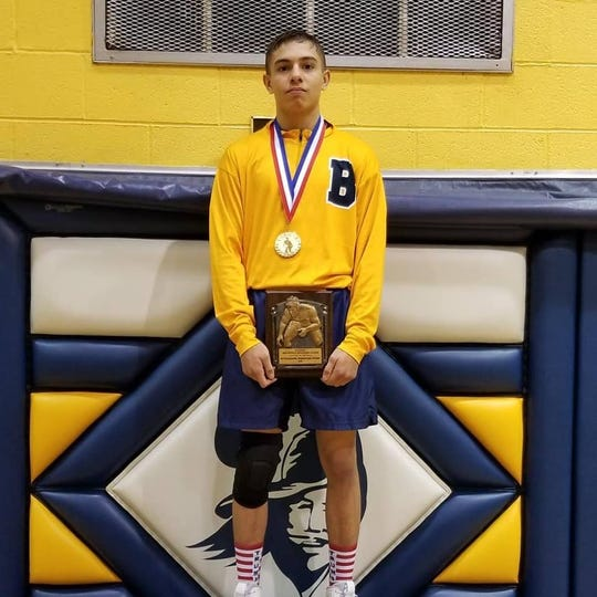 The Buccaneers' Brandon Costello was named the Outstanding Wrestler of the Belleville Classic Wrestling tournament.