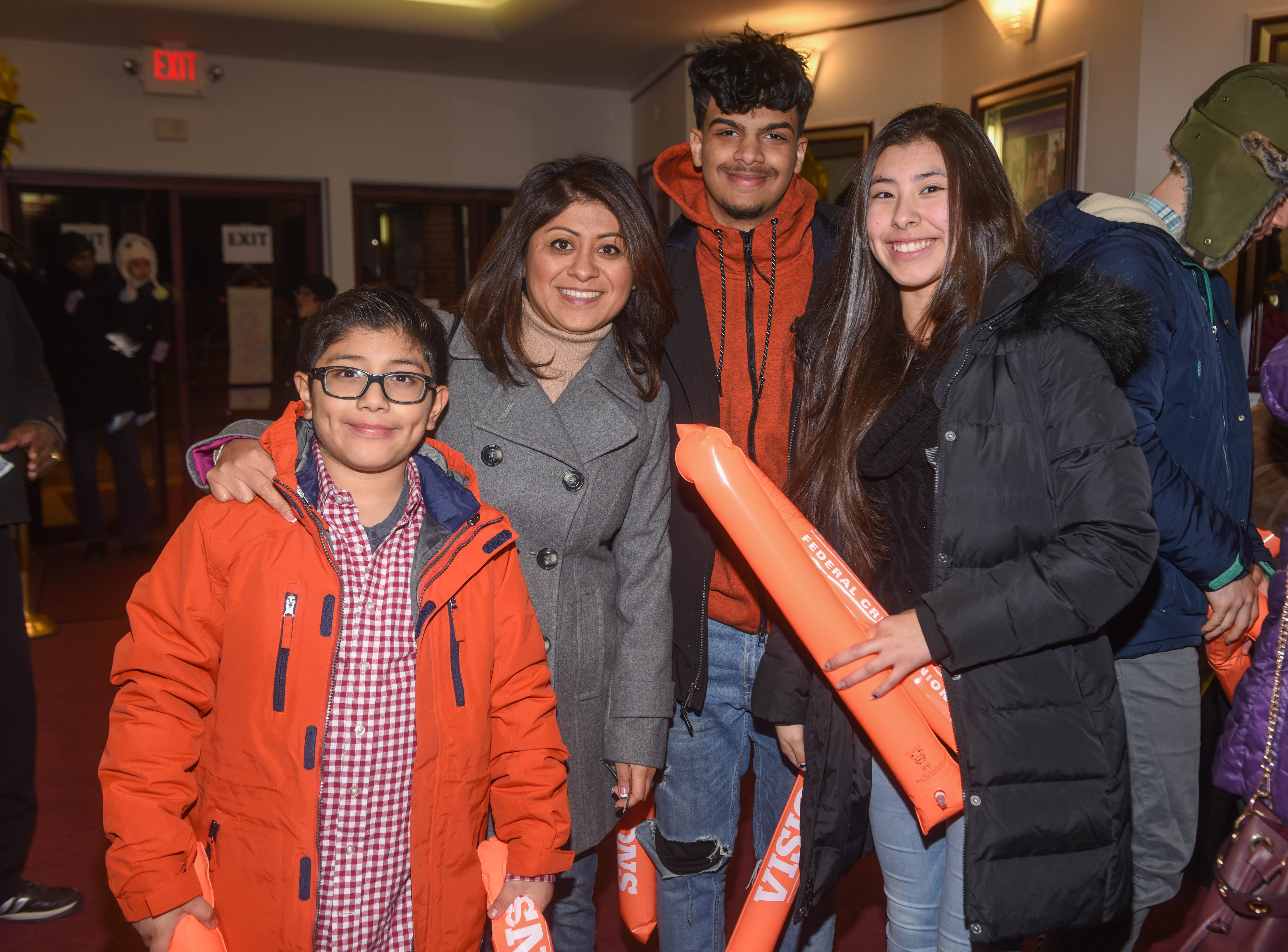 Christopher, Flor Rameriez, Joey and Nayzeth. The 2019 Englewood Idol was held at bergenPAC theater. The singing competition is open to any high school student who currently lives or goes to school in Englewood, NJ. This years winner was Genesis Capellan. 01/11/2019