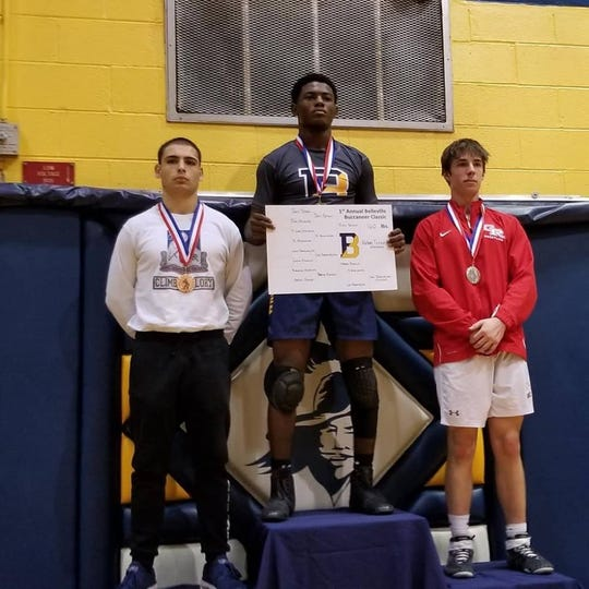 Hakim Fennell won the 160-pound weight class for Belleville.