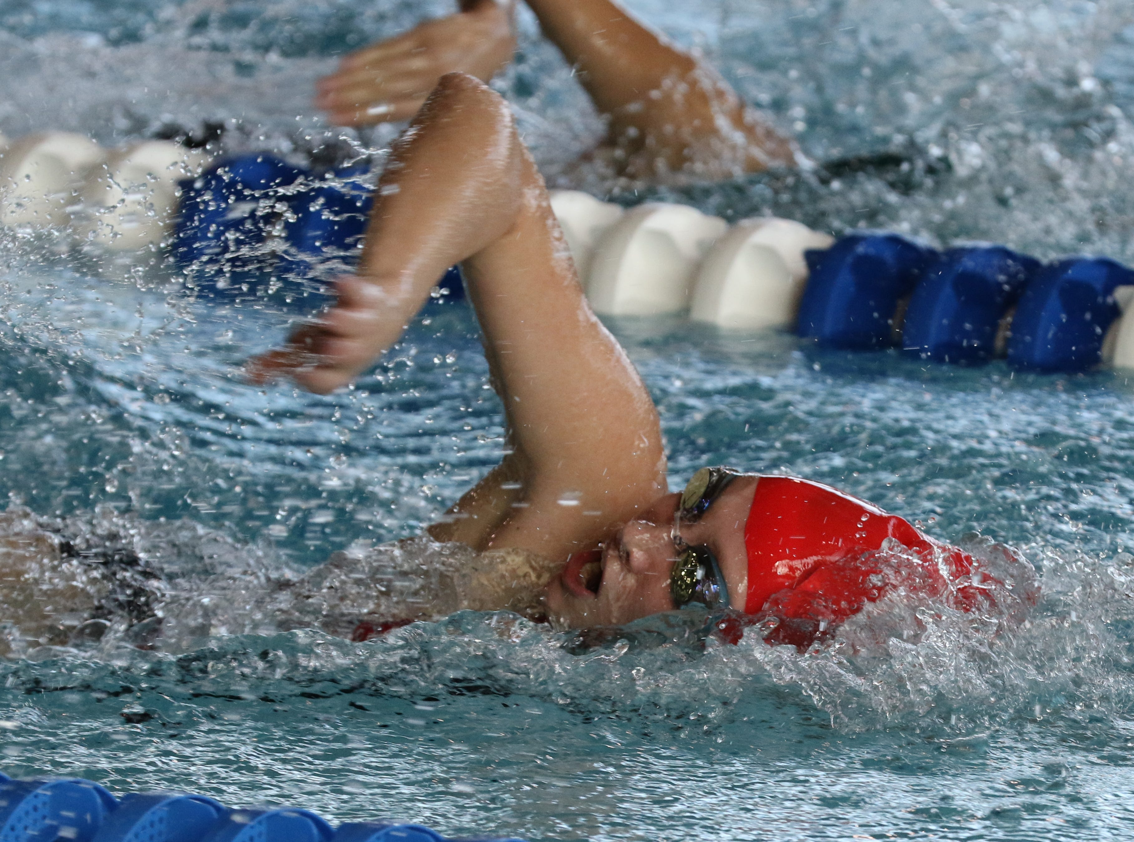 Angela Nyhuis of Lakeland competes in the 50 Yard Freestyle.