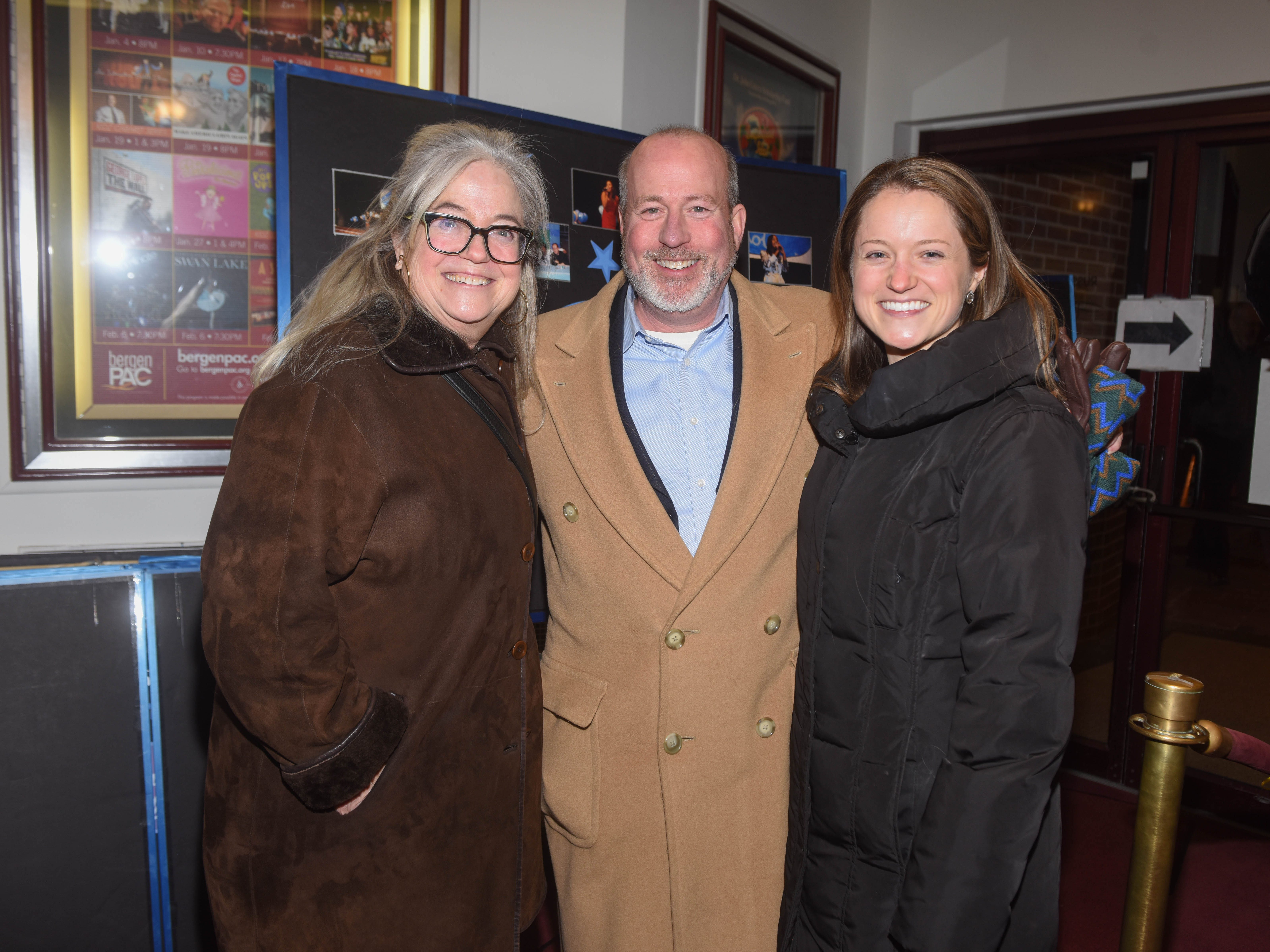 Sally Barfoot, Peter Colquitt and Emily Barfoot. The 2019 Englewood Idol was held at bergenPAC theater. The singing competition is open to any high school student who currently lives or goes to school in Englewood, NJ. This years winner was Genesis Capellan. 01/11/2019