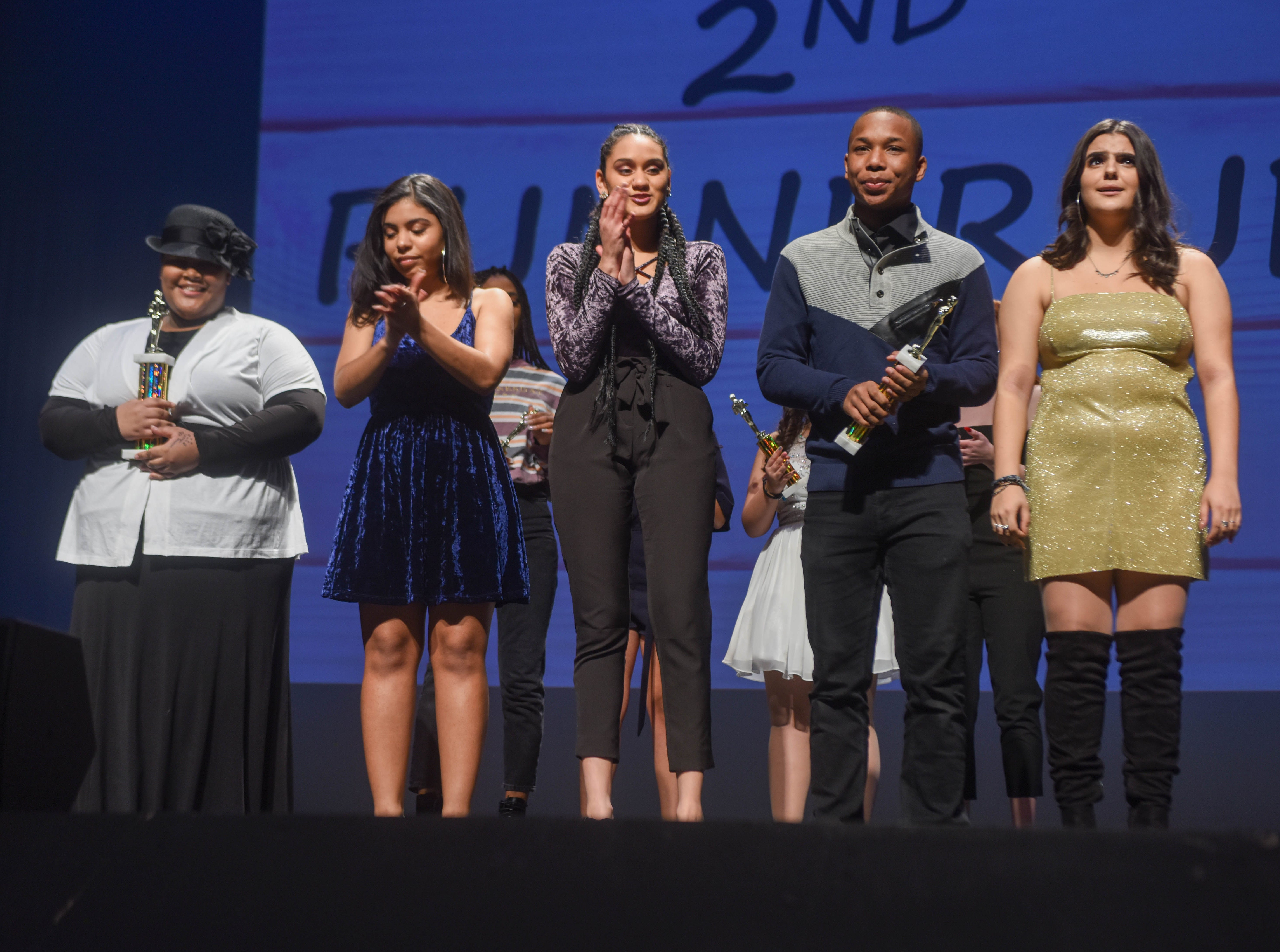 The Top Five Finalist - Lamyra Newton, Patricia Parker, Genesis Capellan, Auhjen Upshaw and Lena Graf. The 2019 Englewood Idol was held at bergenPAC theater. The singing competition is open to any high school student who currently lives or goes to school in Englewood, NJ. This years winner was Genesis Capellan. 01/11/2019