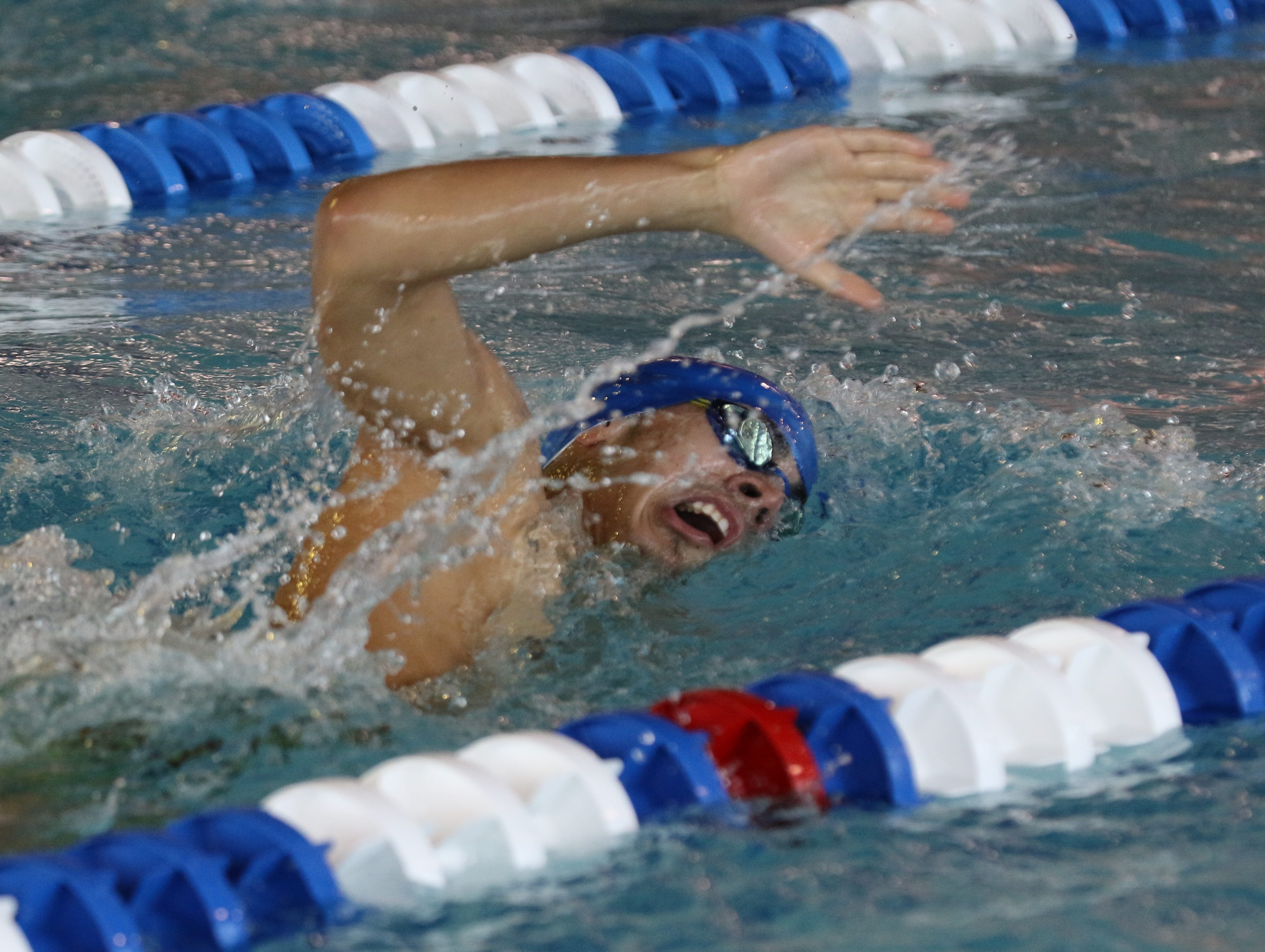 Justin Connillas of Passaic Tech  came in second in the 500 Yard Freestyle.