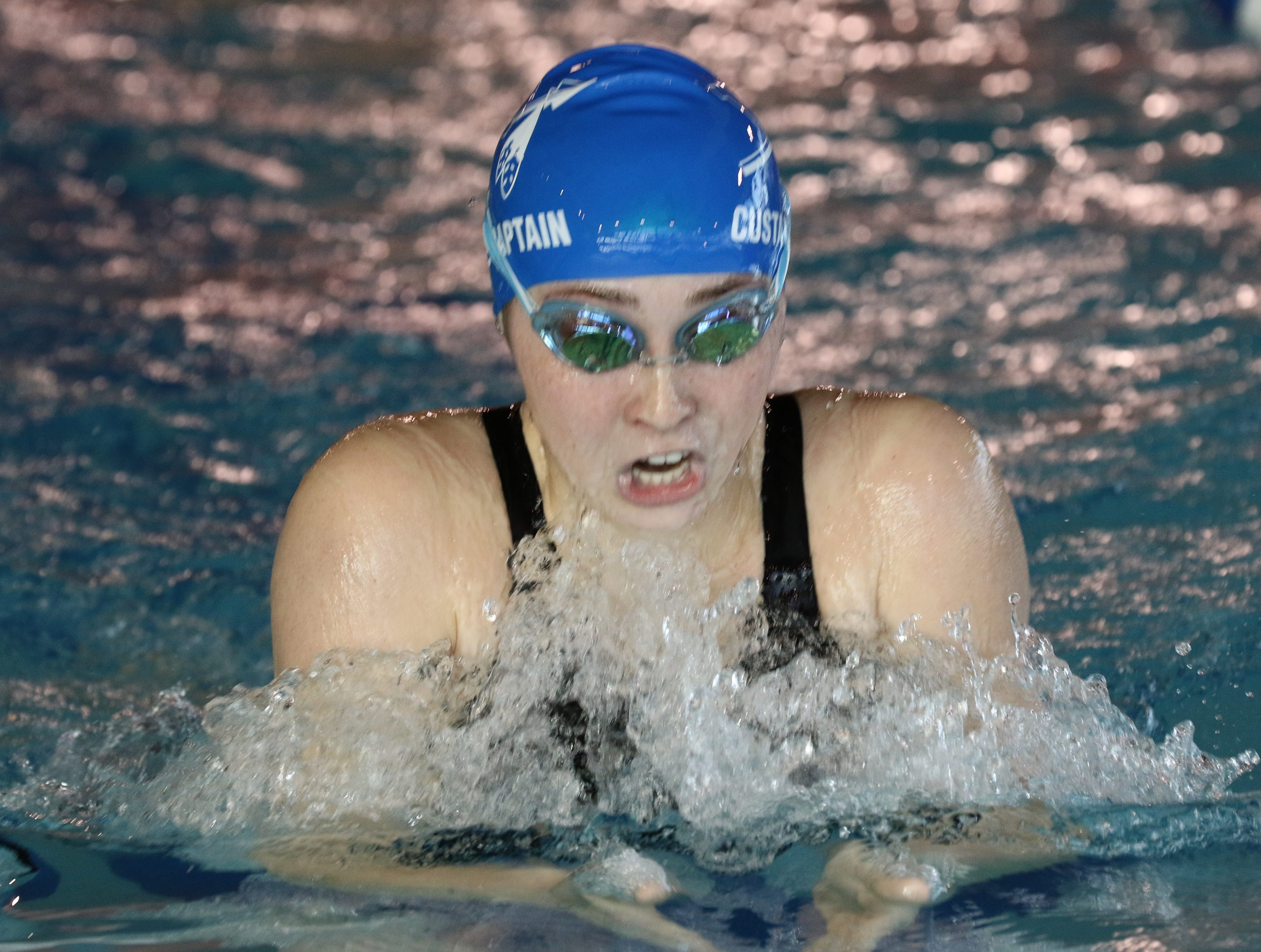 Claire Custance of Wayne Valley competes in the 200 Yard Individual Medley.