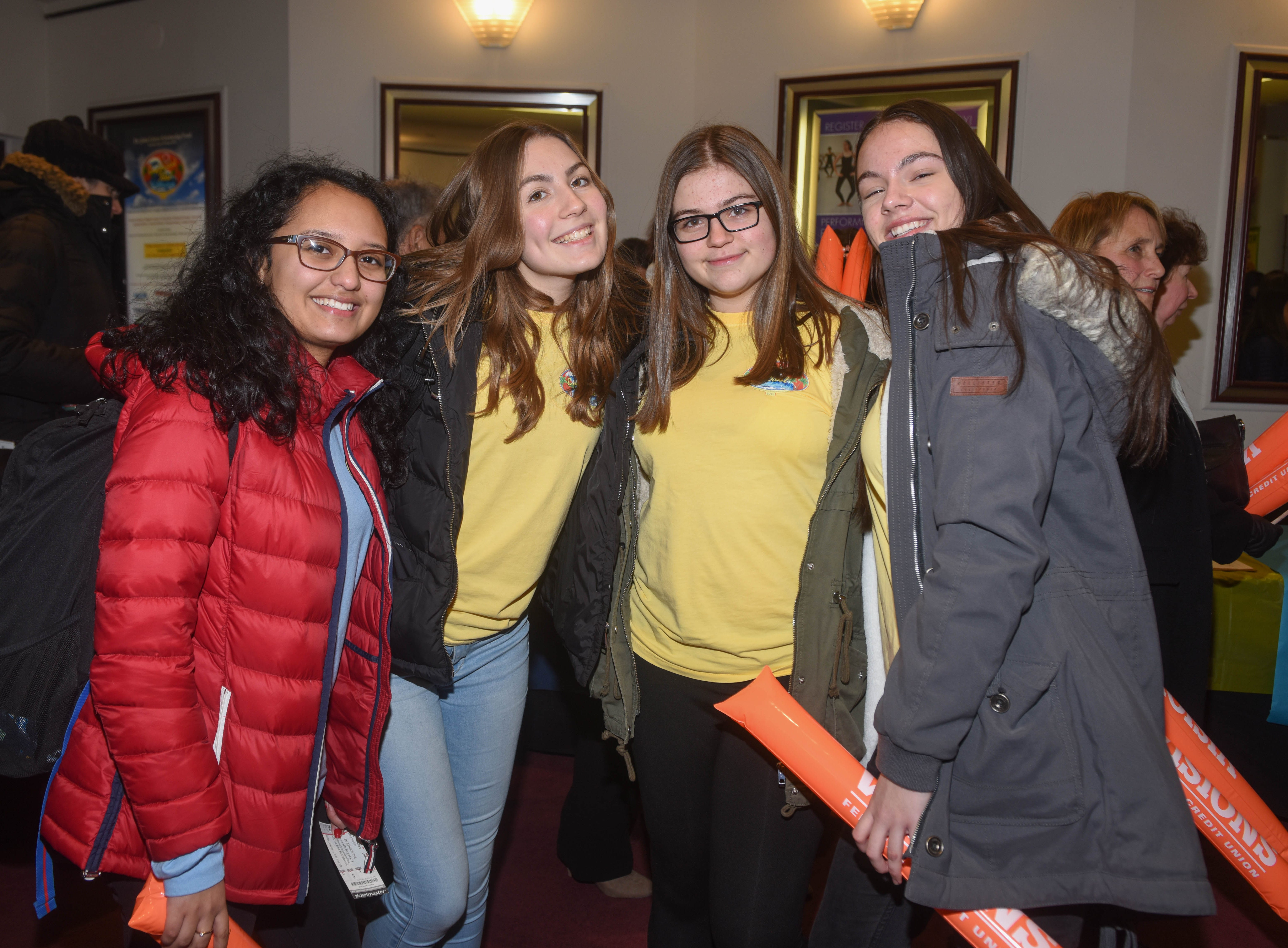 Daniella Mazzoni, Diana Idrizi, Anna Kasprzak and Wiktoria Gawelko. The 2019 Englewood Idol was held at bergenPAC theater. The singing competition is open to any high school student who currently lives or goes to school in Englewood, NJ. This years winner was Genesis Capellan. 01/11/2019