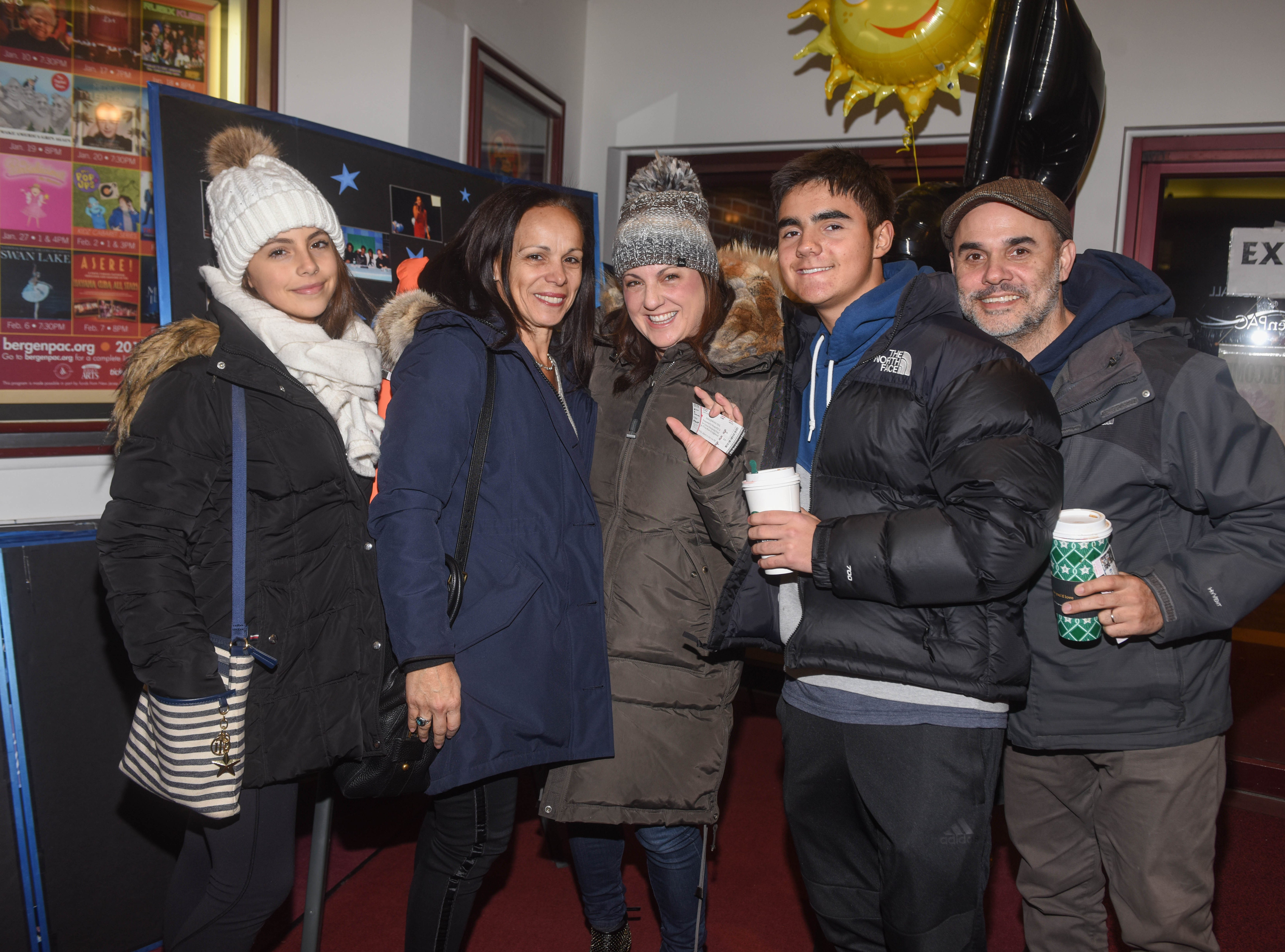 Renata Burnett, Helena Burnett, Pam Graf, Gerry Graf and Gus Graf. The 2019 Englewood Idol was held at bergenPAC theater. The singing competition is open to any high school student who currently lives or goes to school in Englewood, NJ. This years winner was Genesis Capellan. 01/11/2019