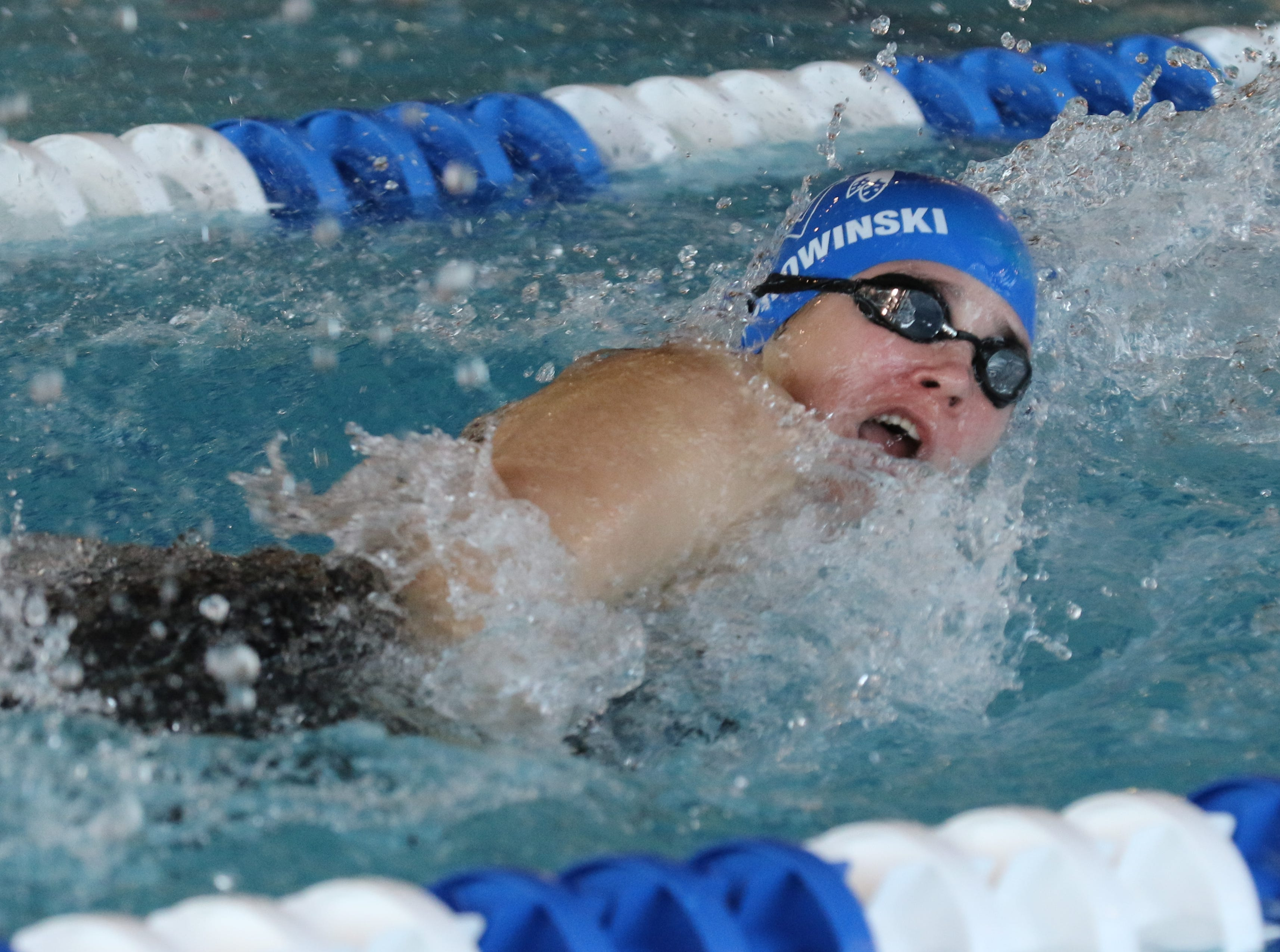 Maddie Borowinski of Wayne Valley placed second in the 100 Yard Freestyle.