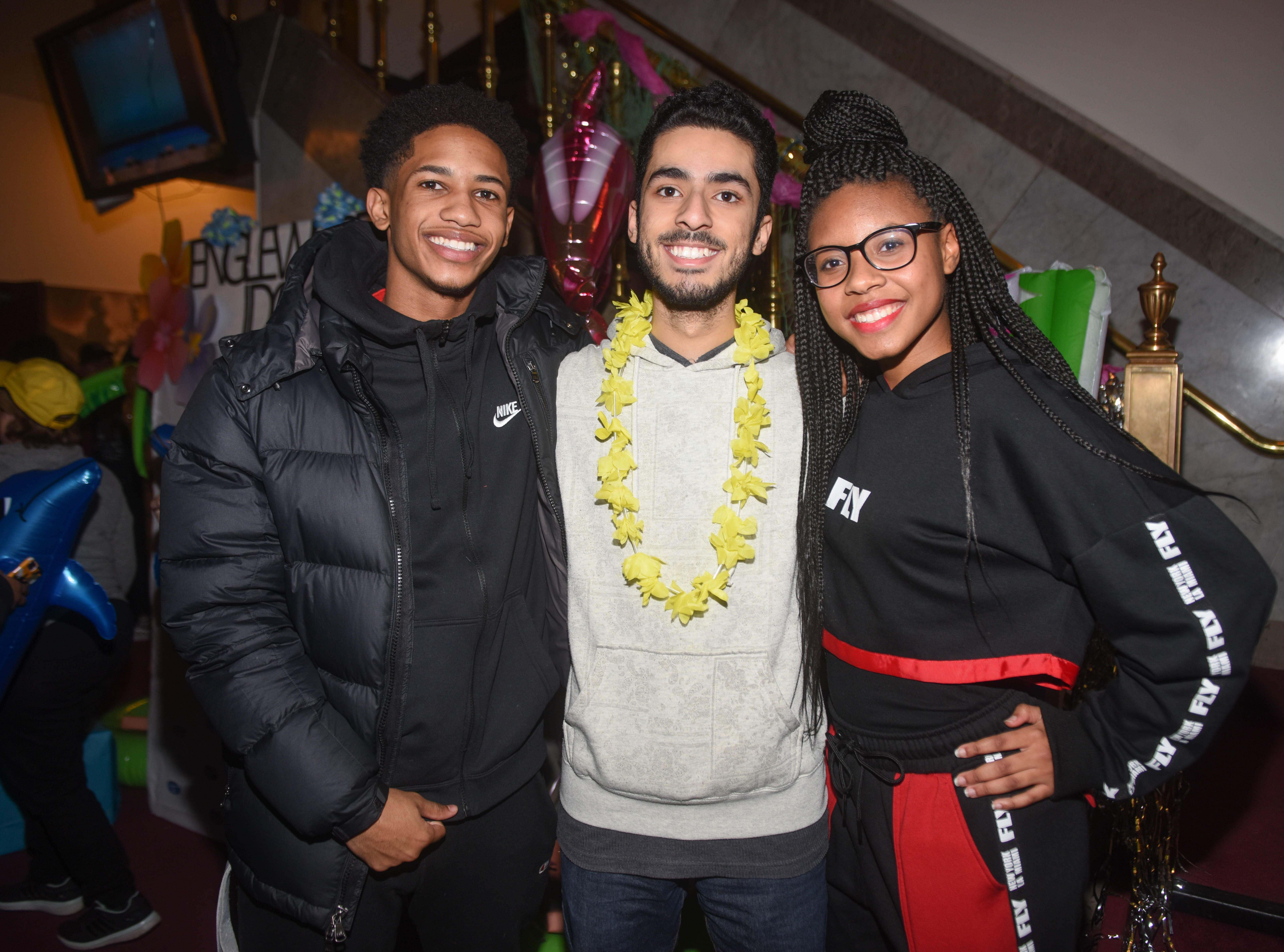 Elijah, Evan and Tyler. The 2019 Englewood Idol was held at bergenPAC theater. The singing competition is open to any high school student who currently lives or goes to school in Englewood, NJ. This years winner was Genesis Capellan. 01/11/2019