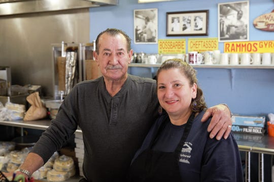 Anastasios and Barbara Rammos have kept Tiffany's Pizza and Greek Cuisine open for 22 years in Las Cruces. Seen at the restaurant on January 9, 2019.
