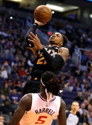 Phoenix Suns forward Richaun Holmes (21) in the first half during an NBA basketball game against the Los Angeles Clippers, Friday, Jan. 4, 2019, in Phoenix. (AP Photo/Rick Scuteri)