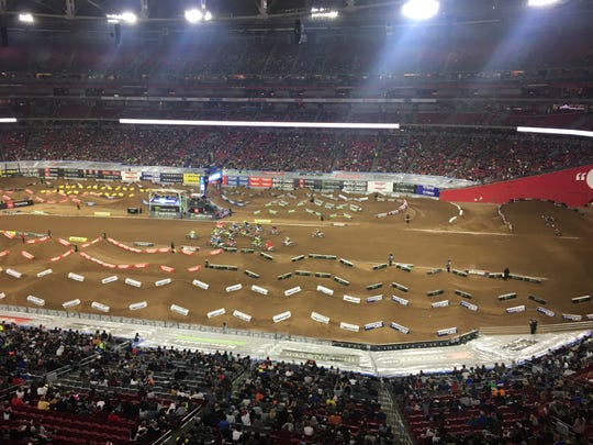 Monster Energy AMA Supercross races at State Farm Stadium on Jan. 12.