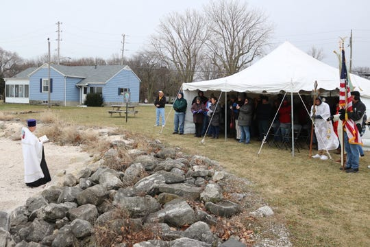 The Rev. Andrew Bartek, of the Holy Assumption Orthodox Church in Marblehead, said he did not know how many to expect in attendance for the first one, but described it as a nice turnout for the first annual Blessing of Lake Erie at Clemons Park on Saturday.